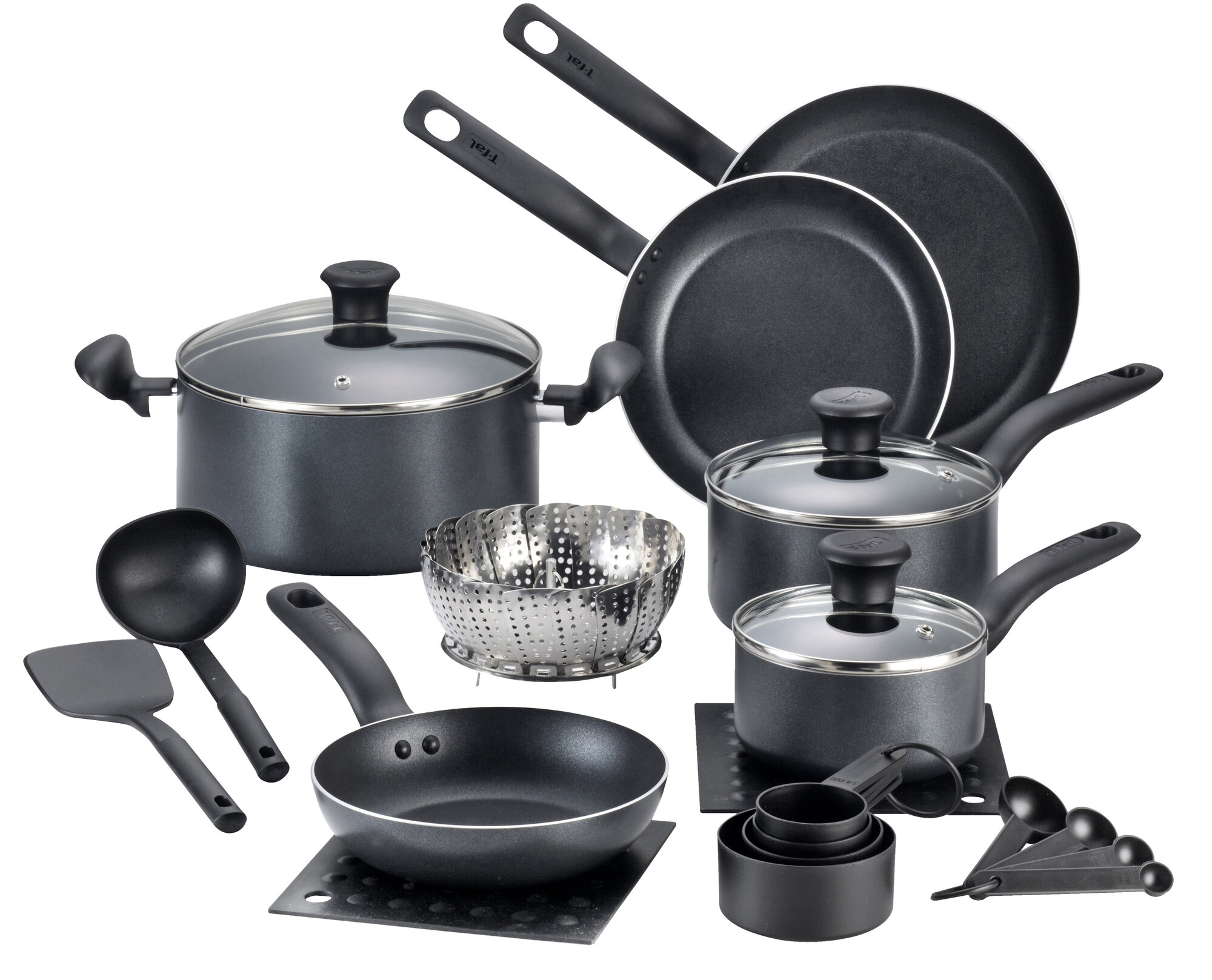 t fal initiatives 18 piece cookware set ebay. Black Bedroom Furniture Sets. Home Design Ideas