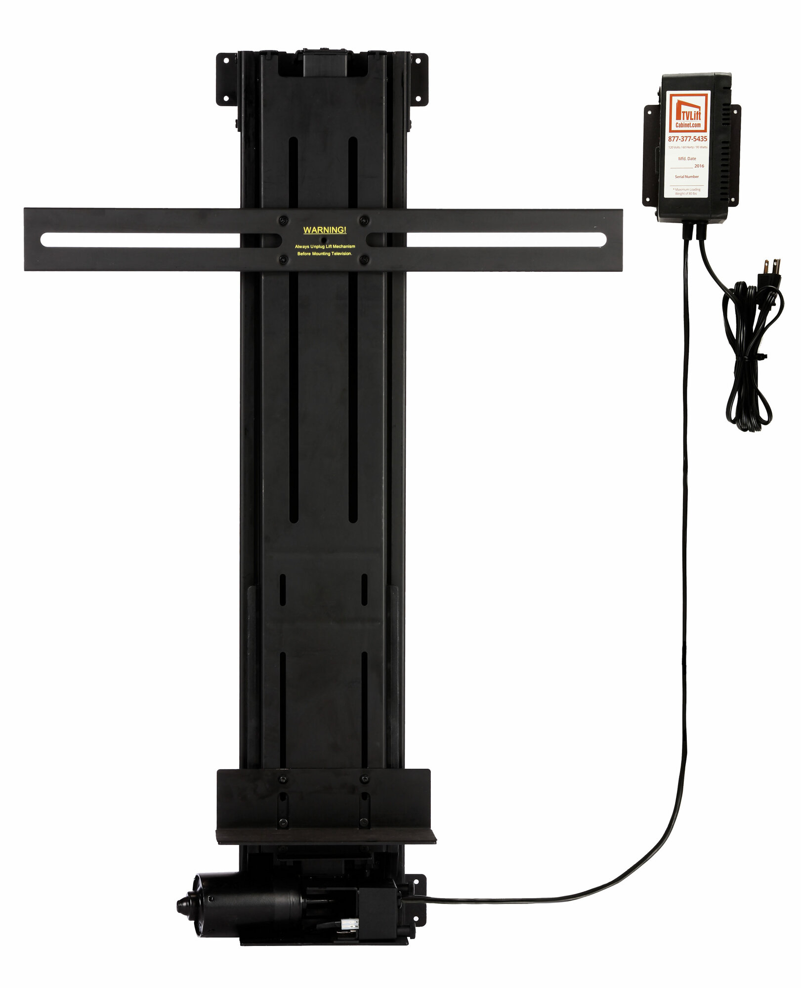 tv lift mechanism pole mount for 13 42 tall flat curved. Black Bedroom Furniture Sets. Home Design Ideas
