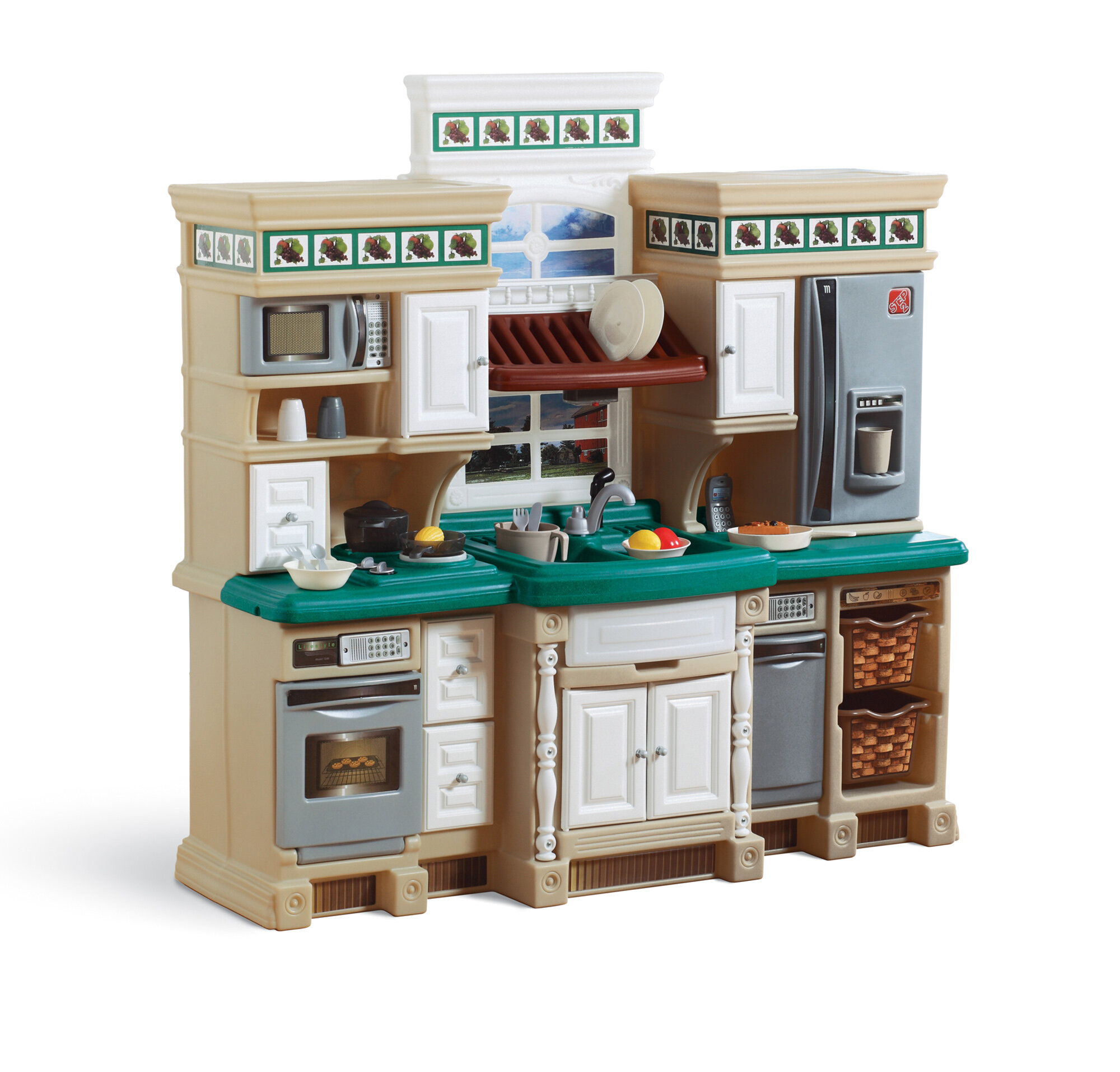Step2 lifestyle deluxe kitchen set ebay for Kitchen set pictures