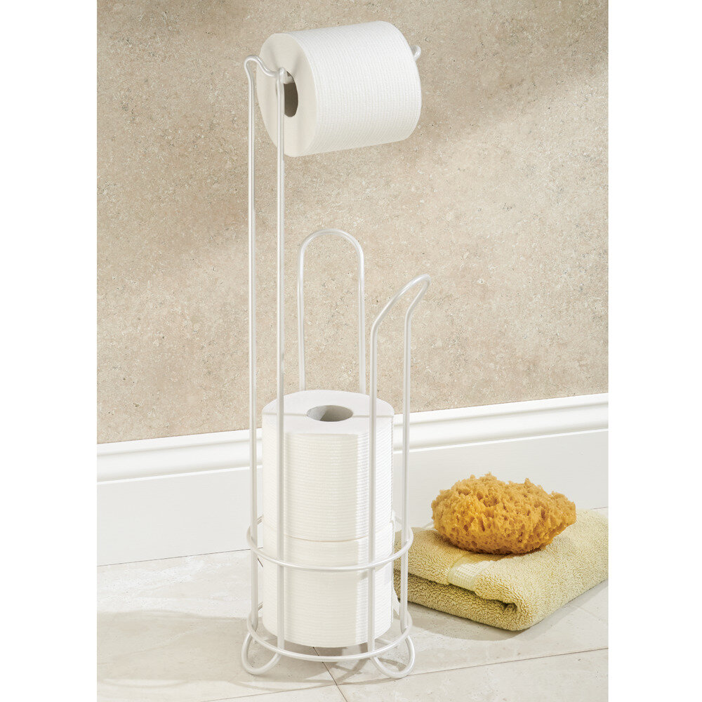 Interdesign classico free standing toilet paper holder ebay - Interdesign toilet paper holder ...