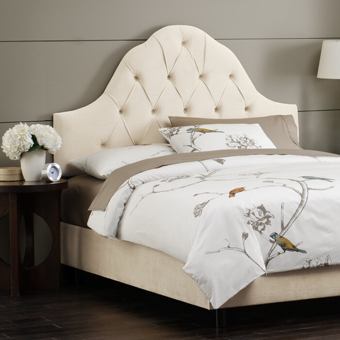 Skyline Furniture Tufted High Arch Upholstered Headboard Ebay