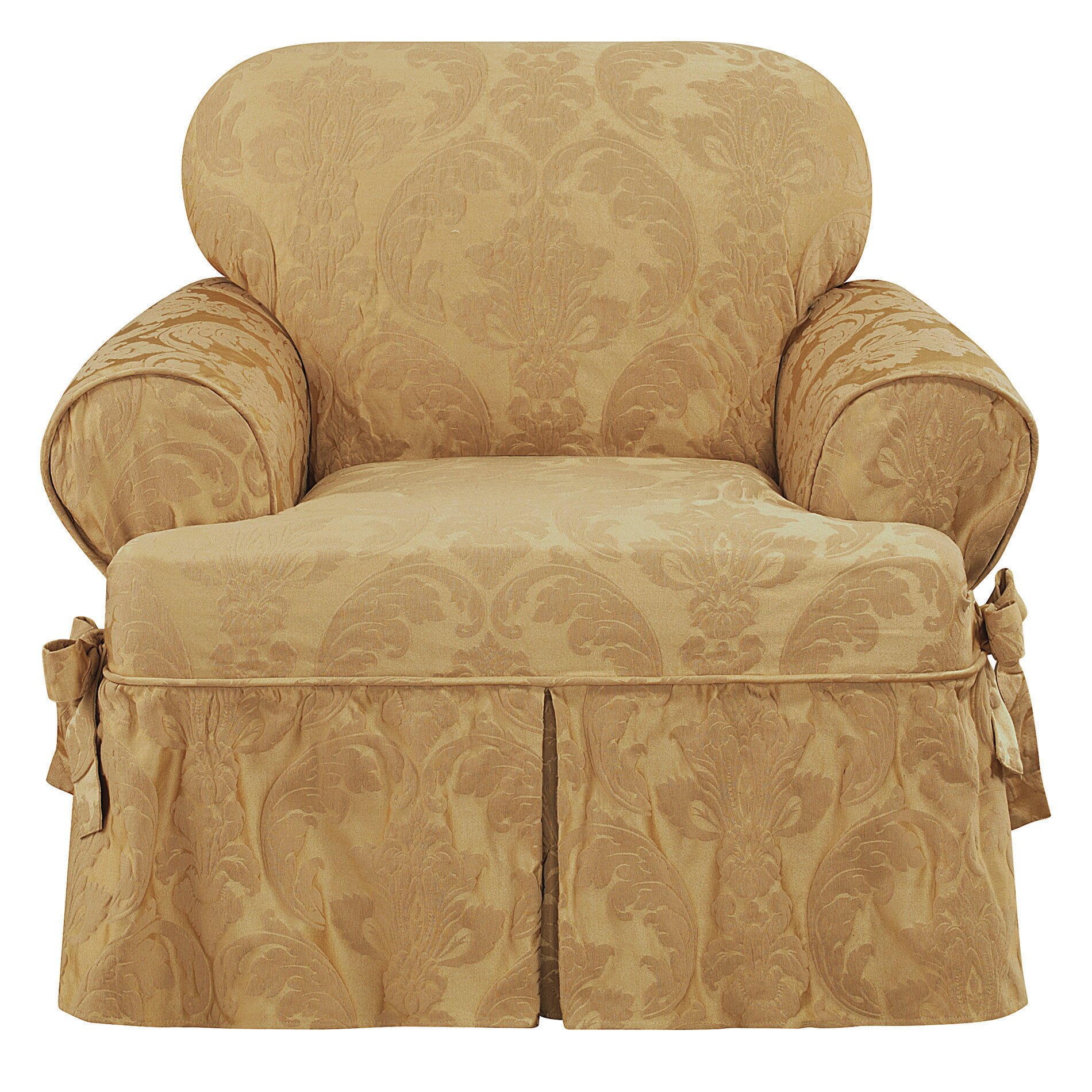 Sure Fit Matelasse Damask Chair T Cushion Slipcover Ebay