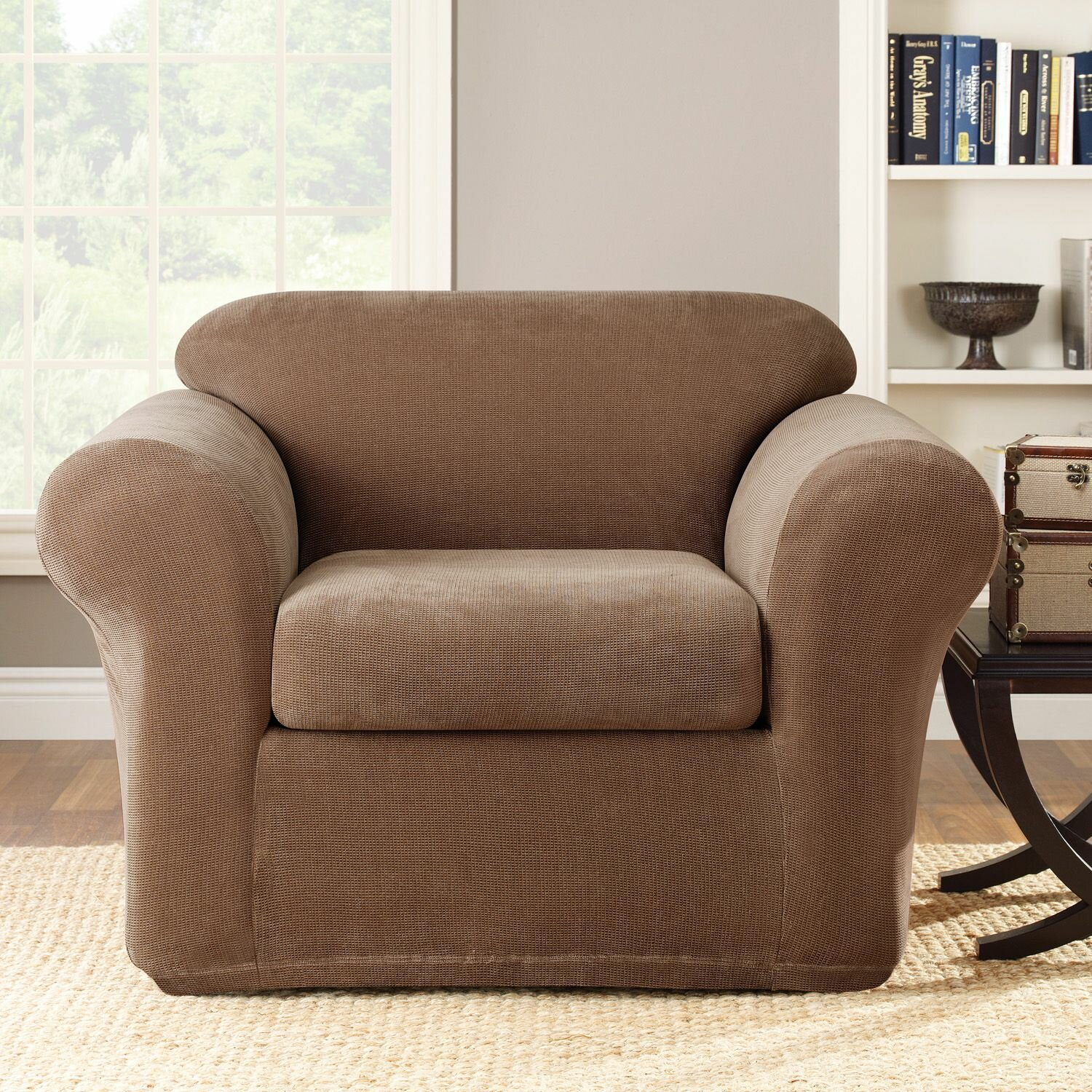 Sure Fit Stretch Metro 2-Piece Armchair Slipcover | eBay