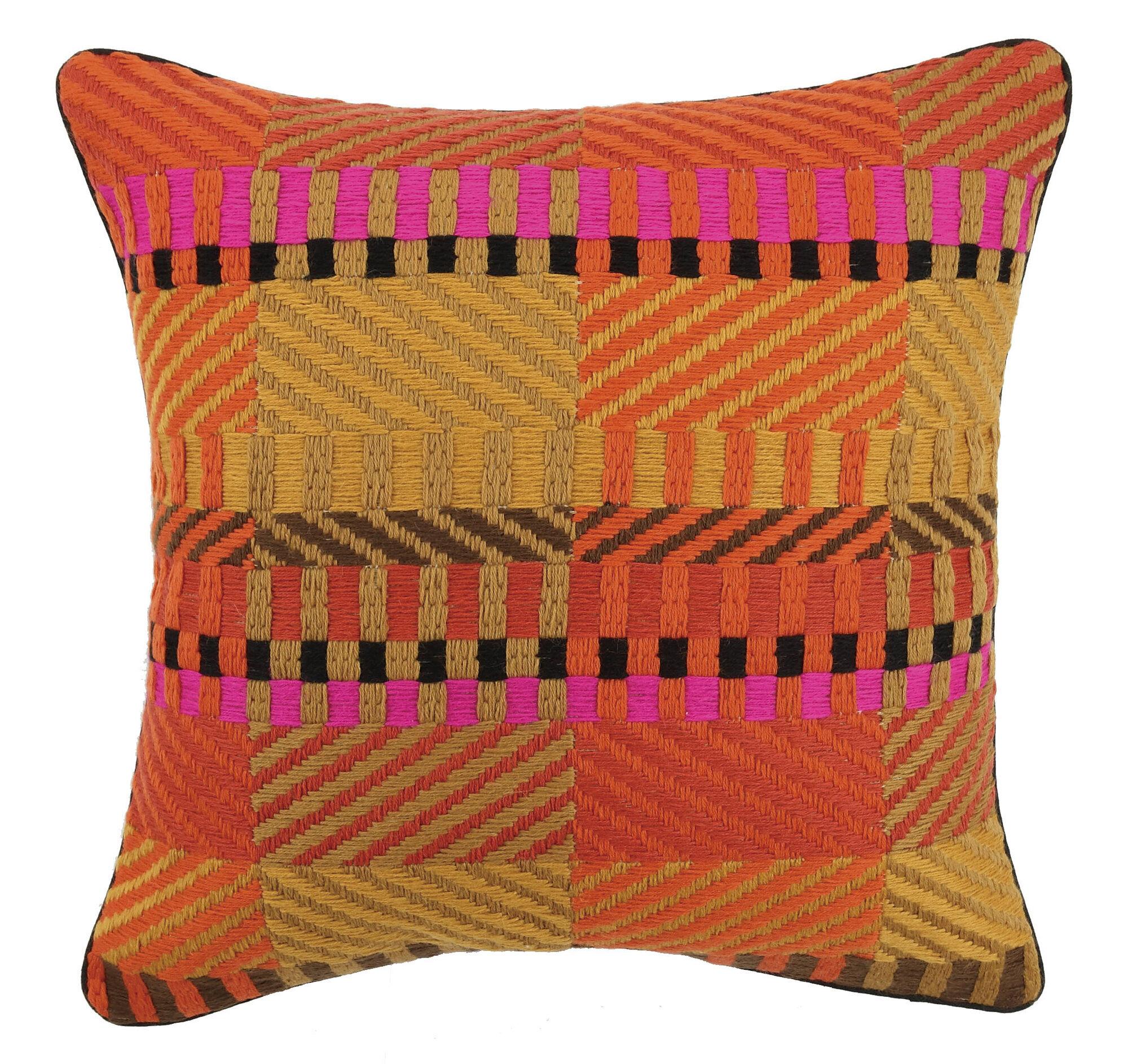 Decorative Pillows Trina Turk : Trina Turk Residential Vintage Weave Needlepoint Linen Throw Pillow eBay