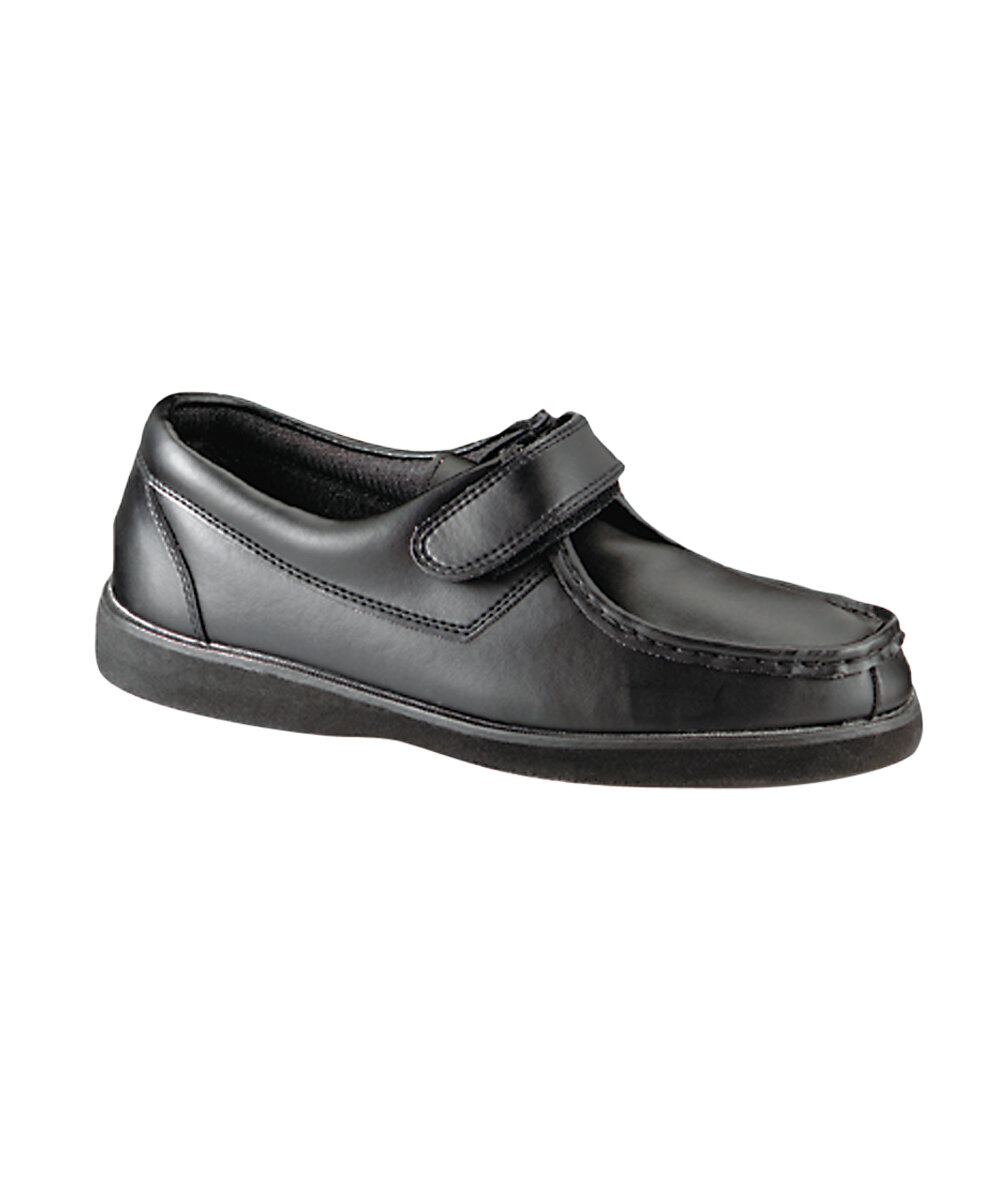 Silvert's Men's Arthritic Easy Closure Shoe in Black