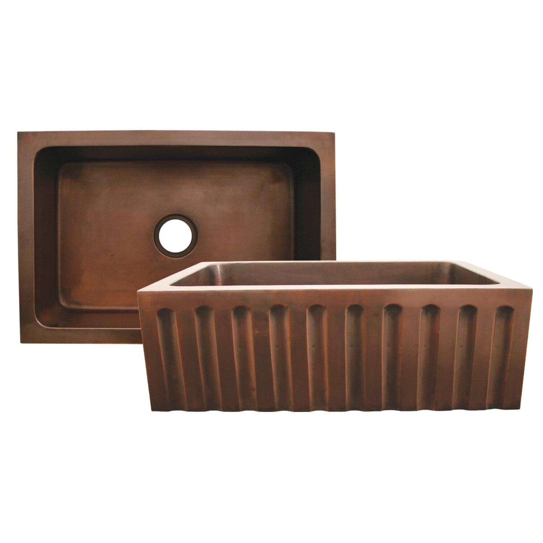 ... WH1921COUM-SBRZ Copperhaus Undermount Copper Kitchen Sink in Bronze