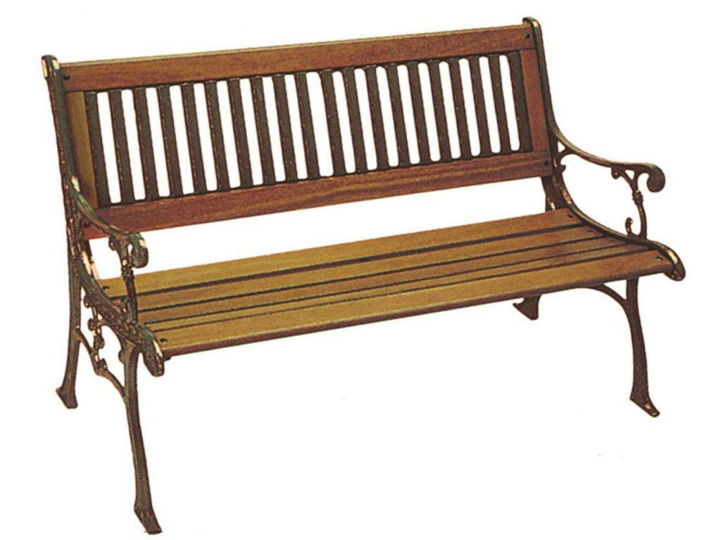 Dc America Carolina Wood And Cast Iron Park Bench Ebay
