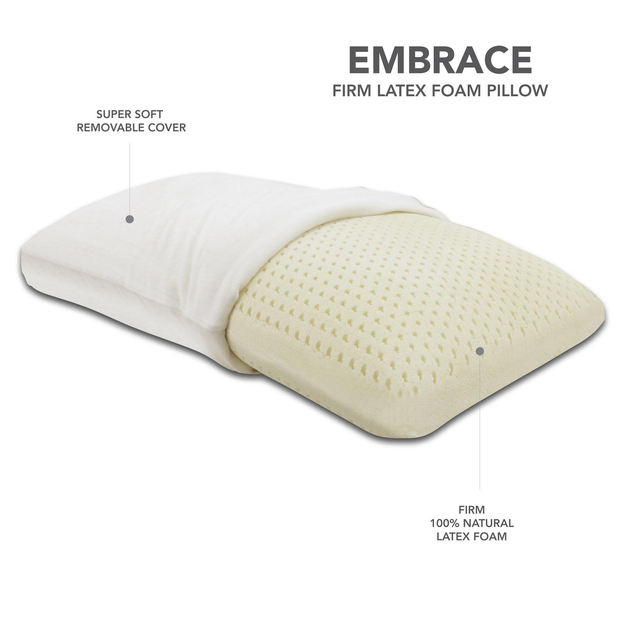 Latex foam pillow firm