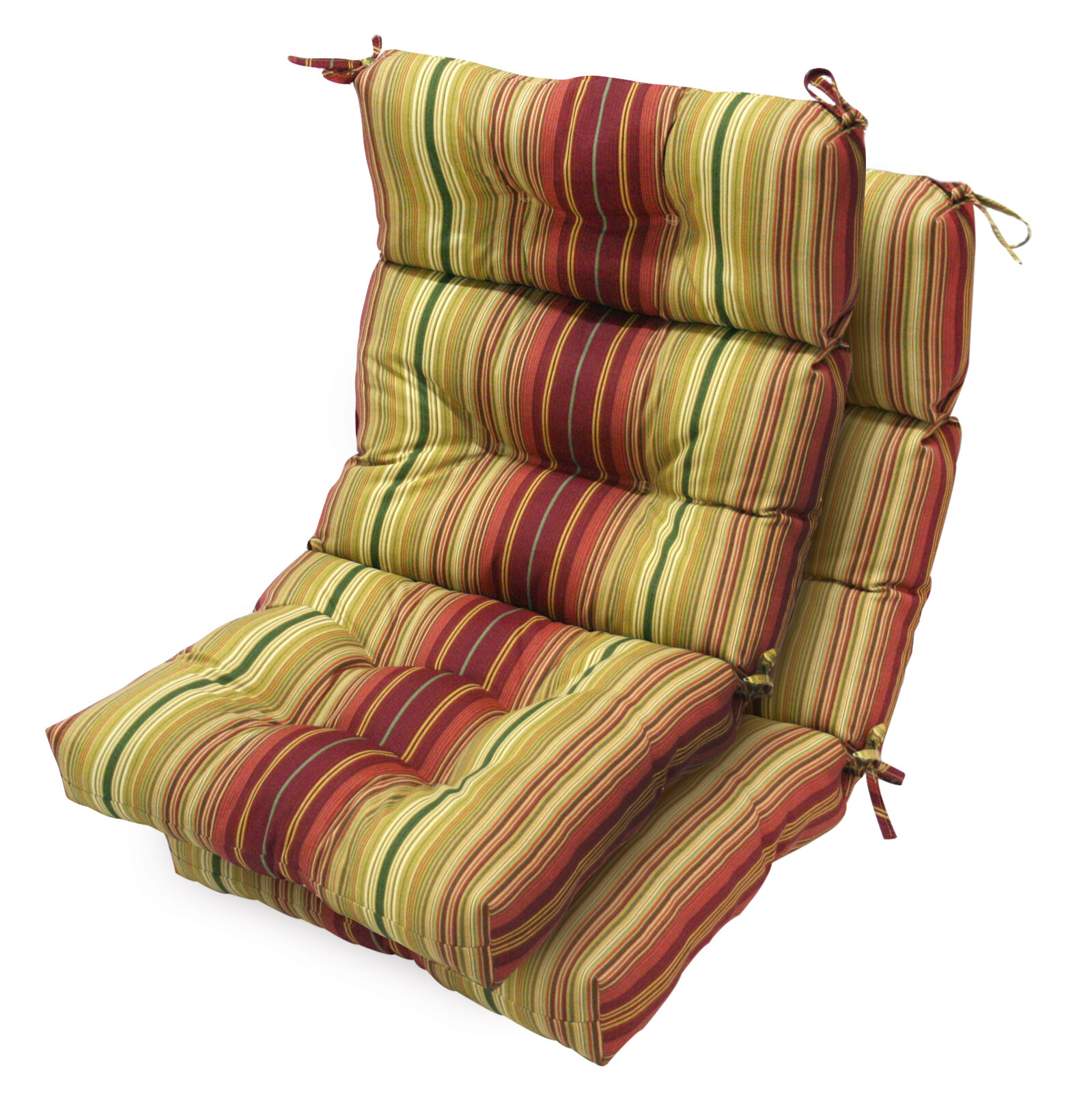 greendale home fashions outdoor high back chair cushion. Black Bedroom Furniture Sets. Home Design Ideas