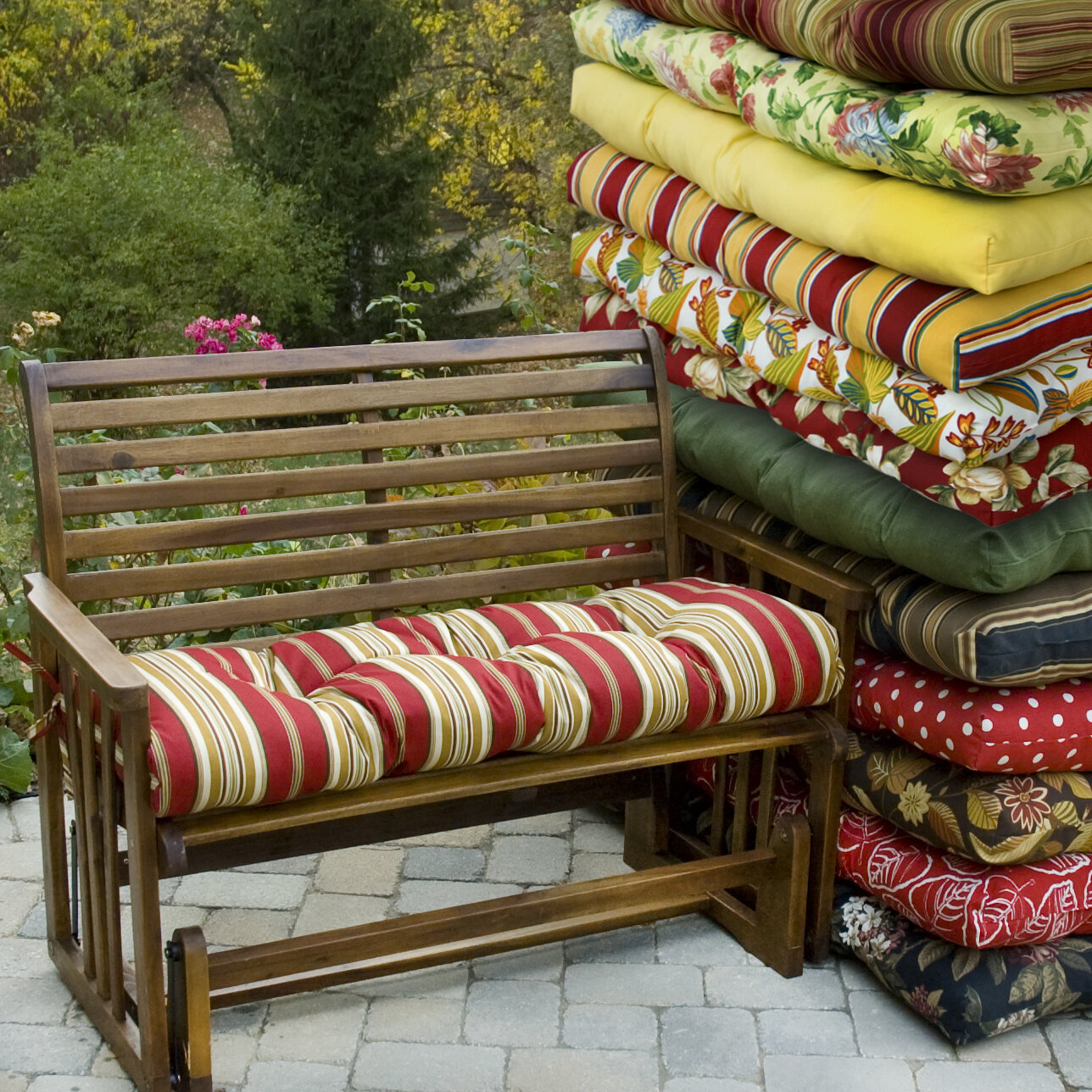Amazing photo of Details about Greendale Home Fashions Bench Cushion for Outdoor Swing with #997E32 color and 1288x1288 pixels