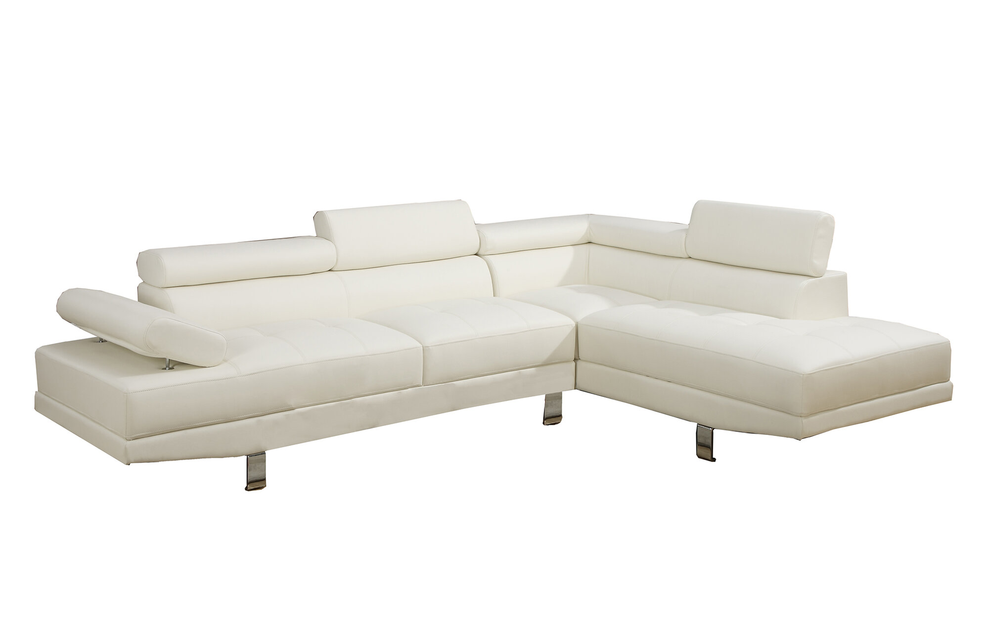 Poundex Bobkona Atlantic Sectional Sofa EBay