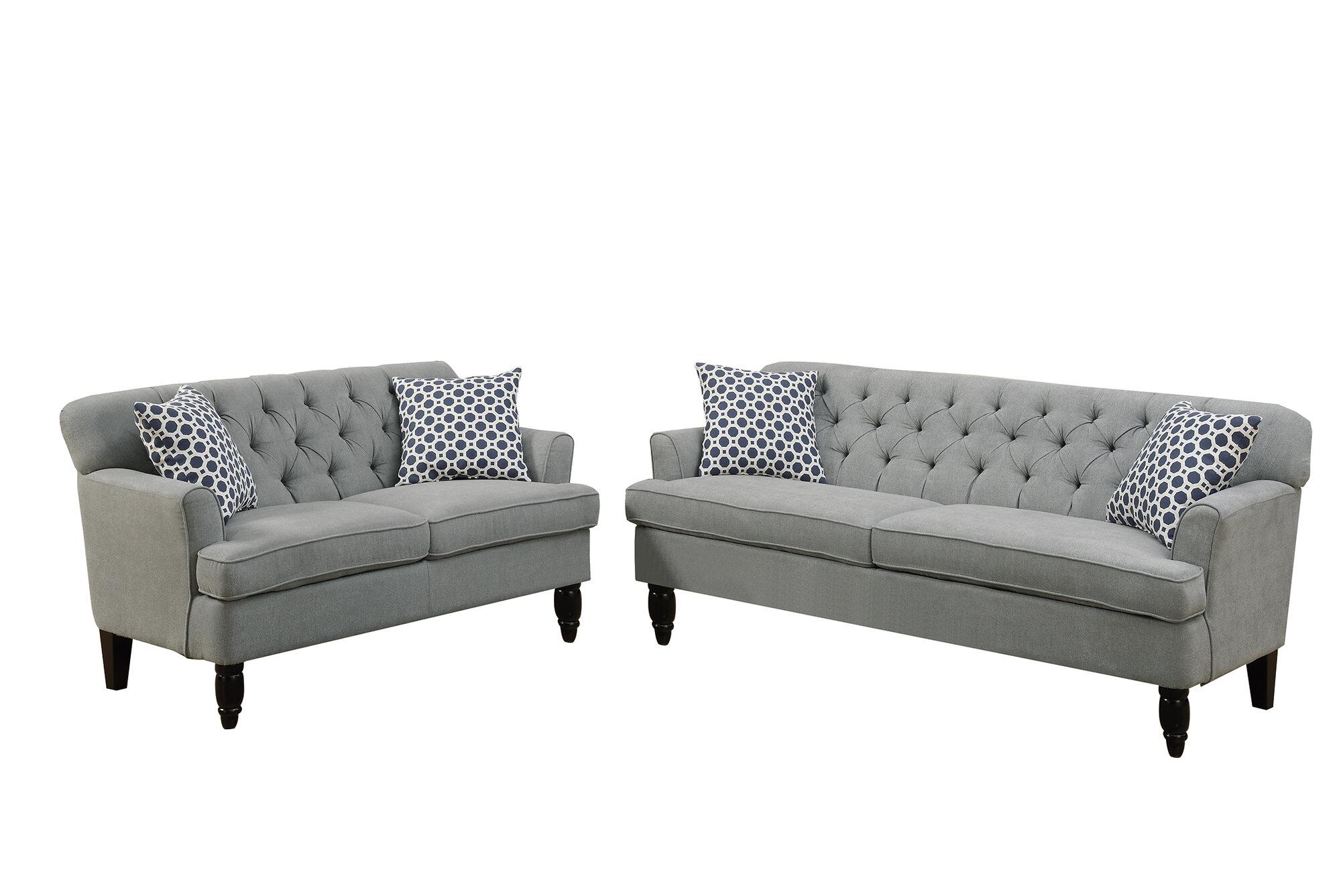 Poundex Bobkona Fostord Sofa Set Ebay