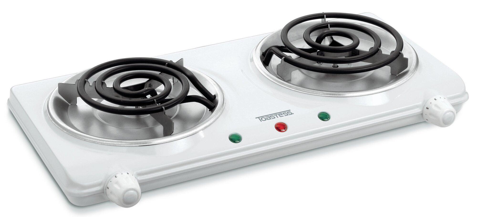 2 Burner Electric Cooktop ~ Salton portable quot electric cooktop with burners