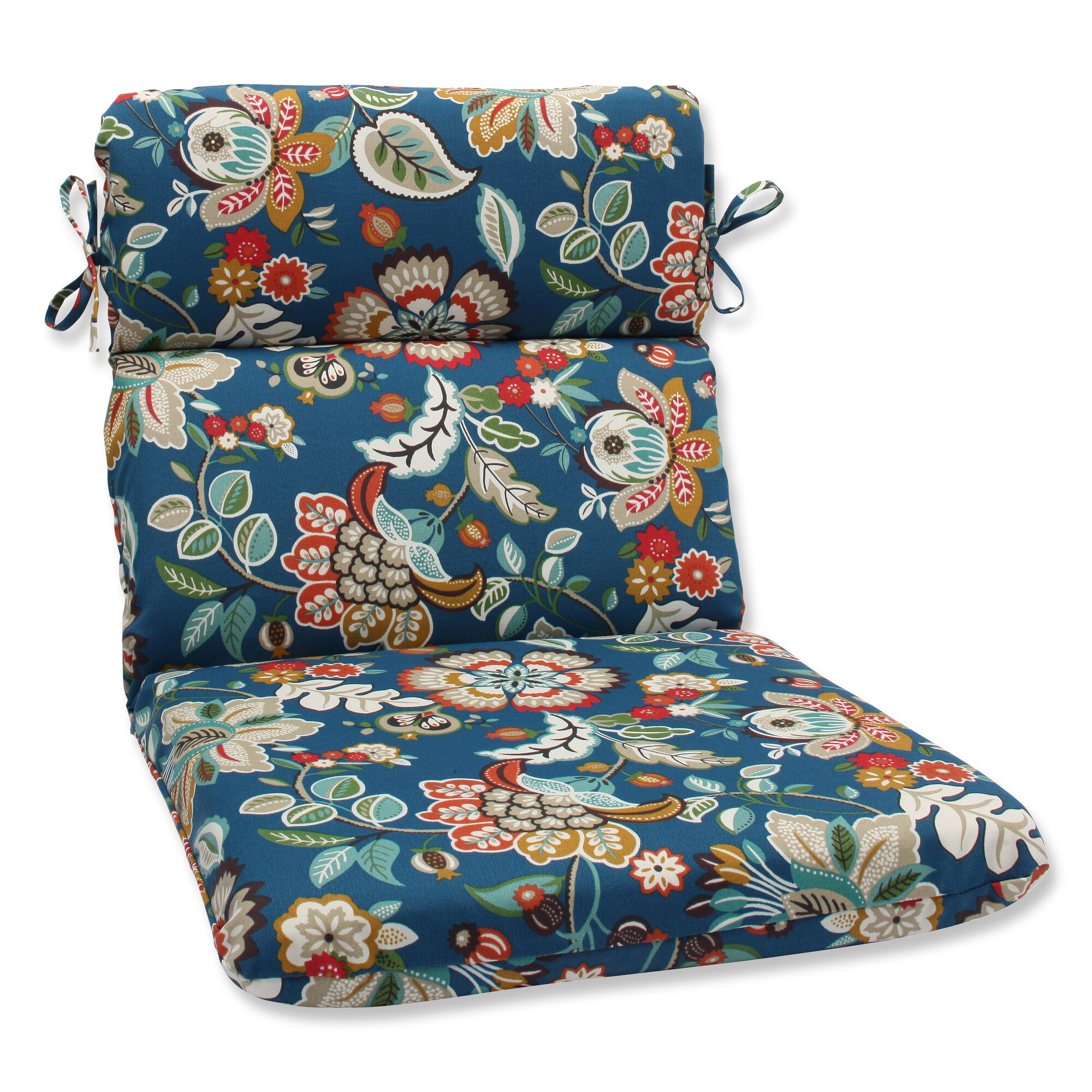 pillow perfect telfair peacock outdoor chaise lounge cushion pwp4177. Black Bedroom Furniture Sets. Home Design Ideas