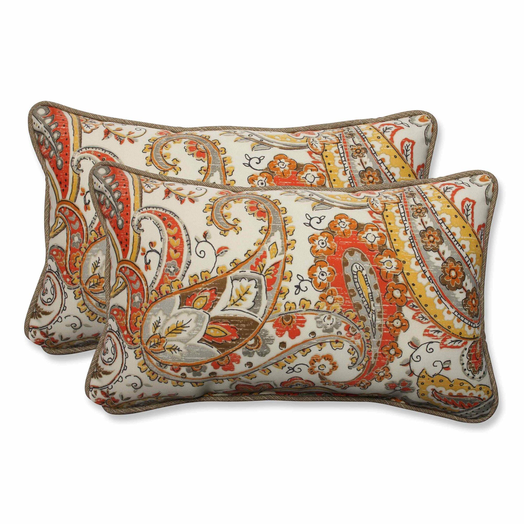 pillow perfect hadia sunset outdoor indoor throw pillow set of 2 ebay. Black Bedroom Furniture Sets. Home Design Ideas