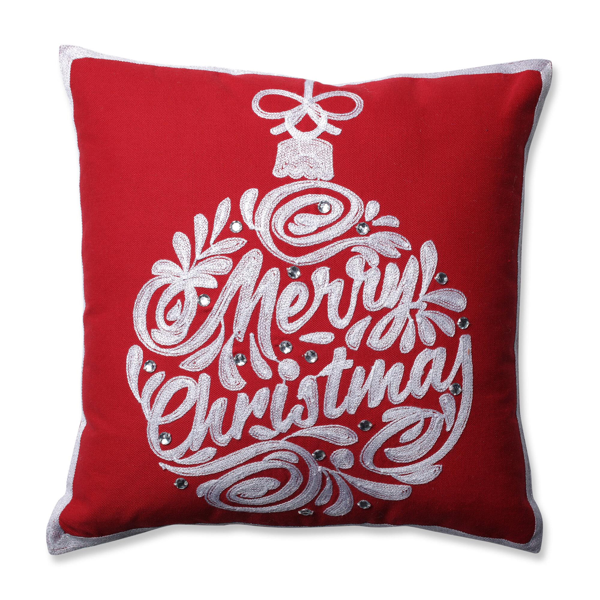 Pillow Perfect Christmas Ball Throw Pillow