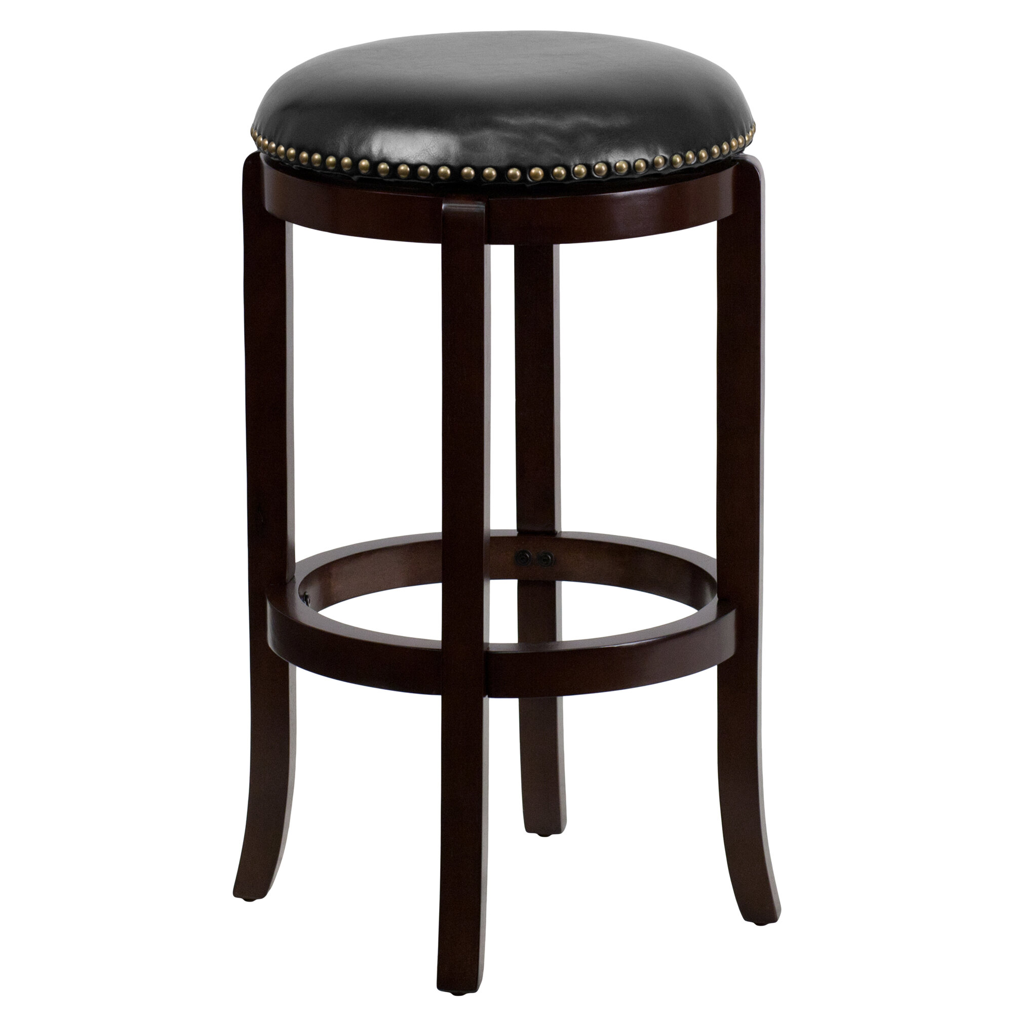 Flash Furniture 29 Backless Wood Bar Stool with Leather  : 1 from www.ebay.com size 2000 x 2000 jpeg 286kB