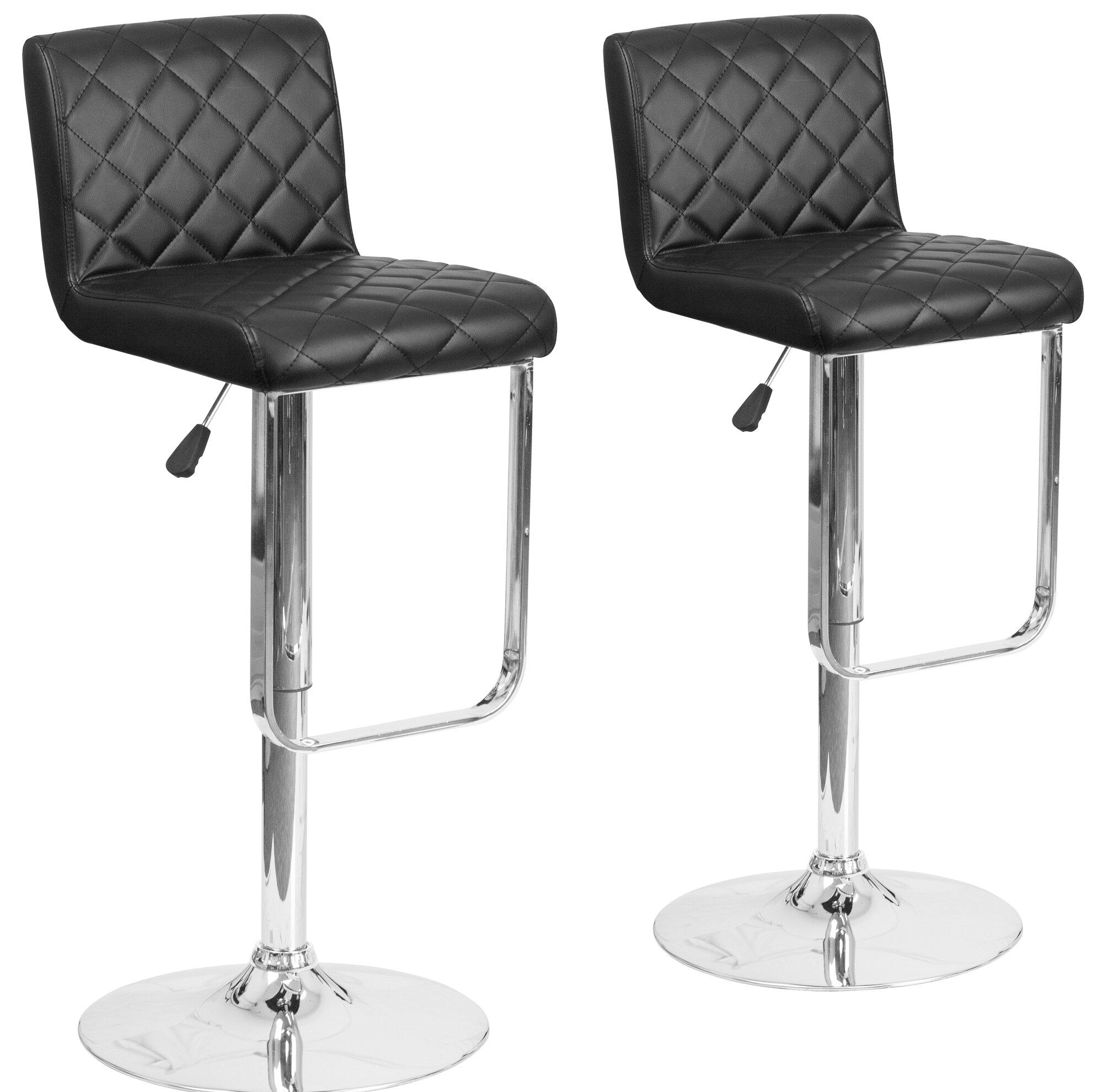Bar Stool Set Of 2 Adjustable Height Seat Chair Swivel: Flash Furniture Adjustable Height Swivel Bar Stool Set Of 2