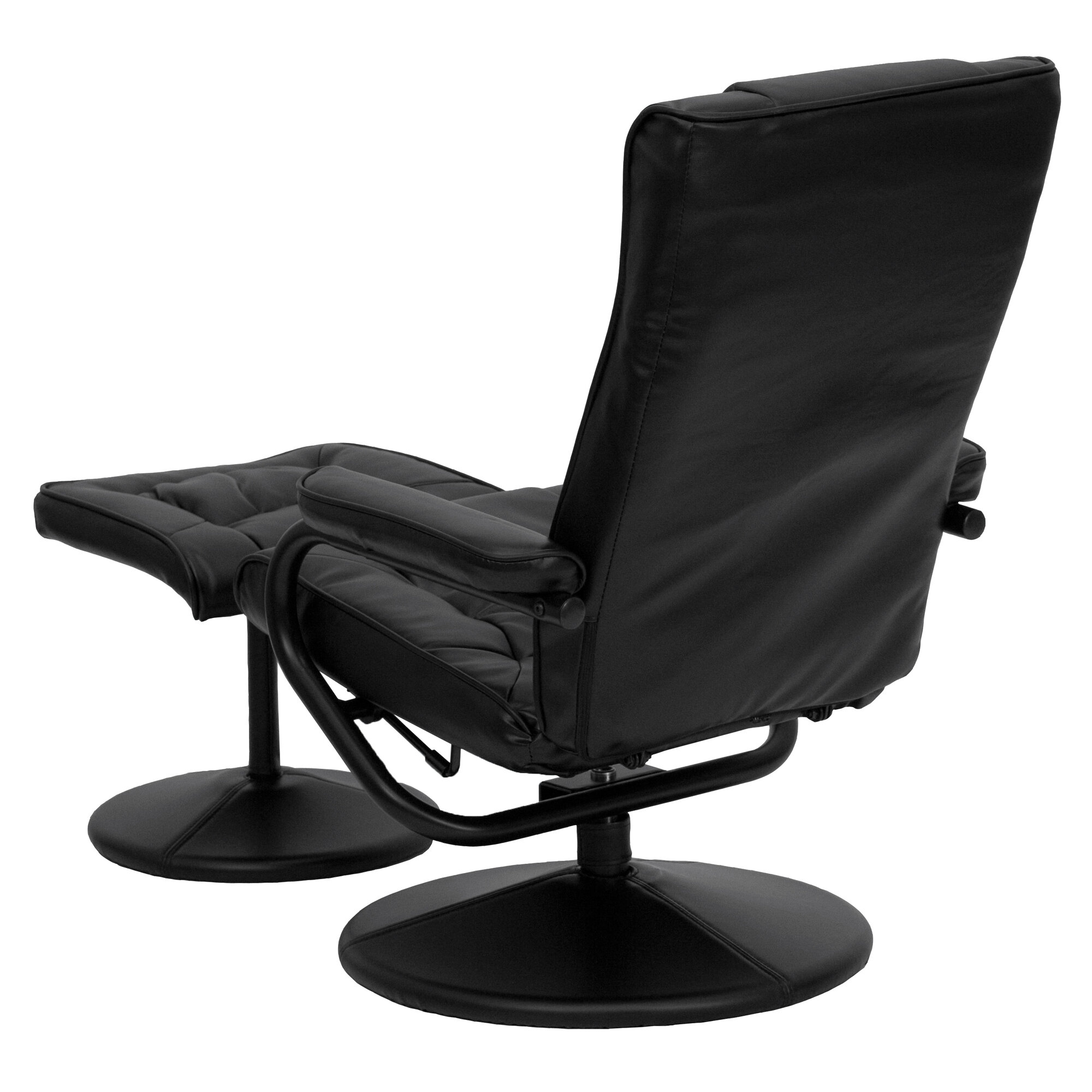 Flash furniture contemporary soft leather reclining office for Modern leather office chairs
