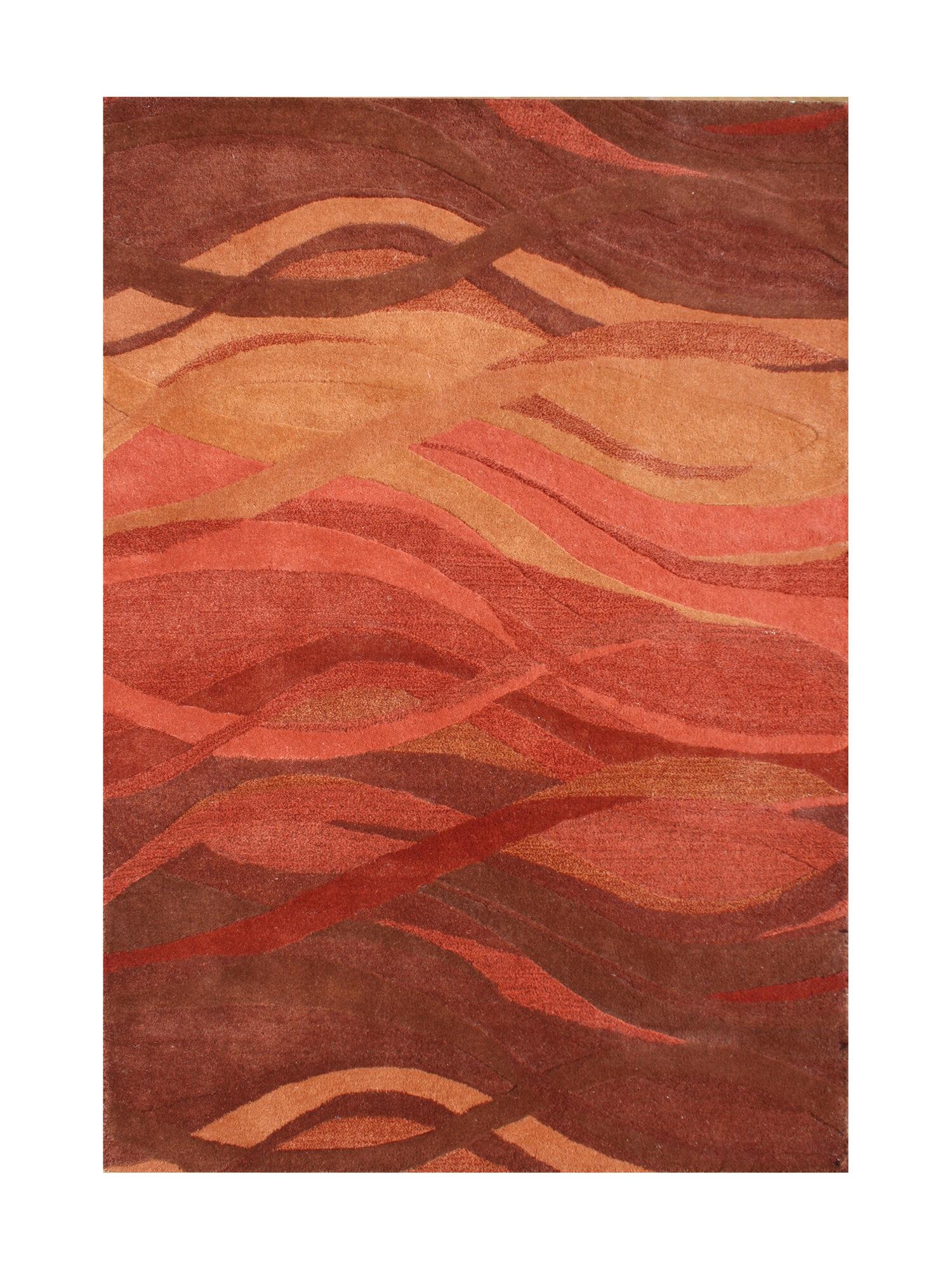 Alliyah rugs handmade rust area rug ebay for Custom made area rugs
