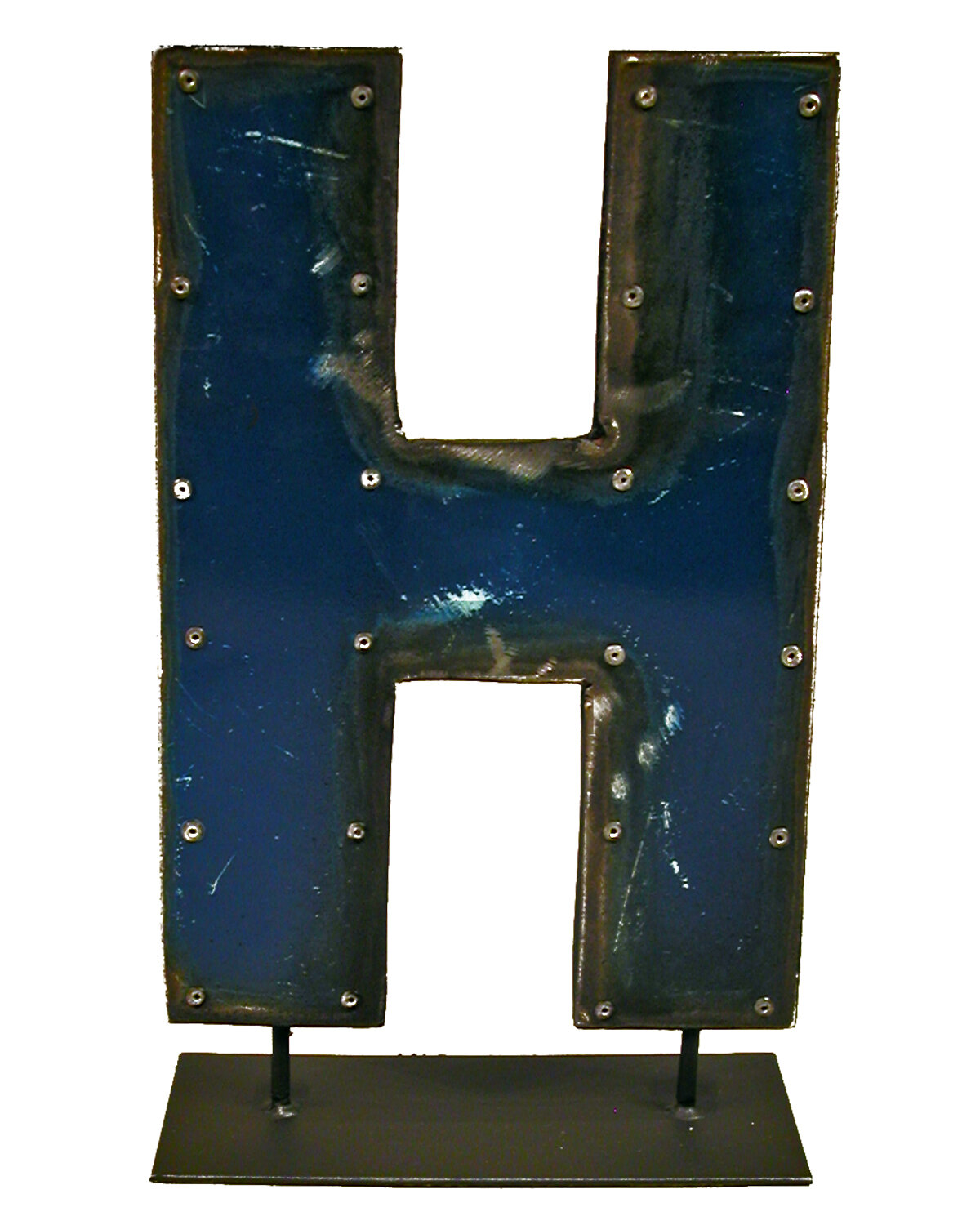 Groovystuff Moonshine Metal Letters H on a Stand Letter ...