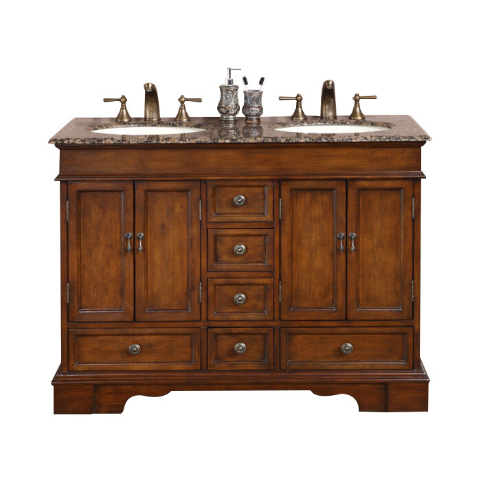 about silkroad exclusive bradford 48 double bathroom vanity set