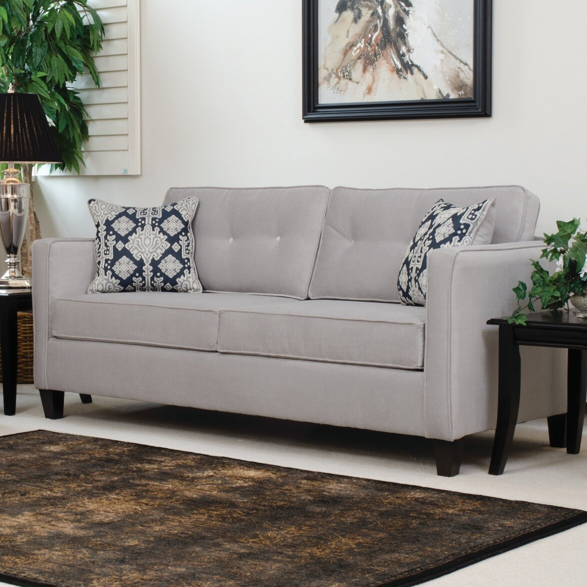 serta upholstery elizabeth queen sleeper sofa ebay. Black Bedroom Furniture Sets. Home Design Ideas