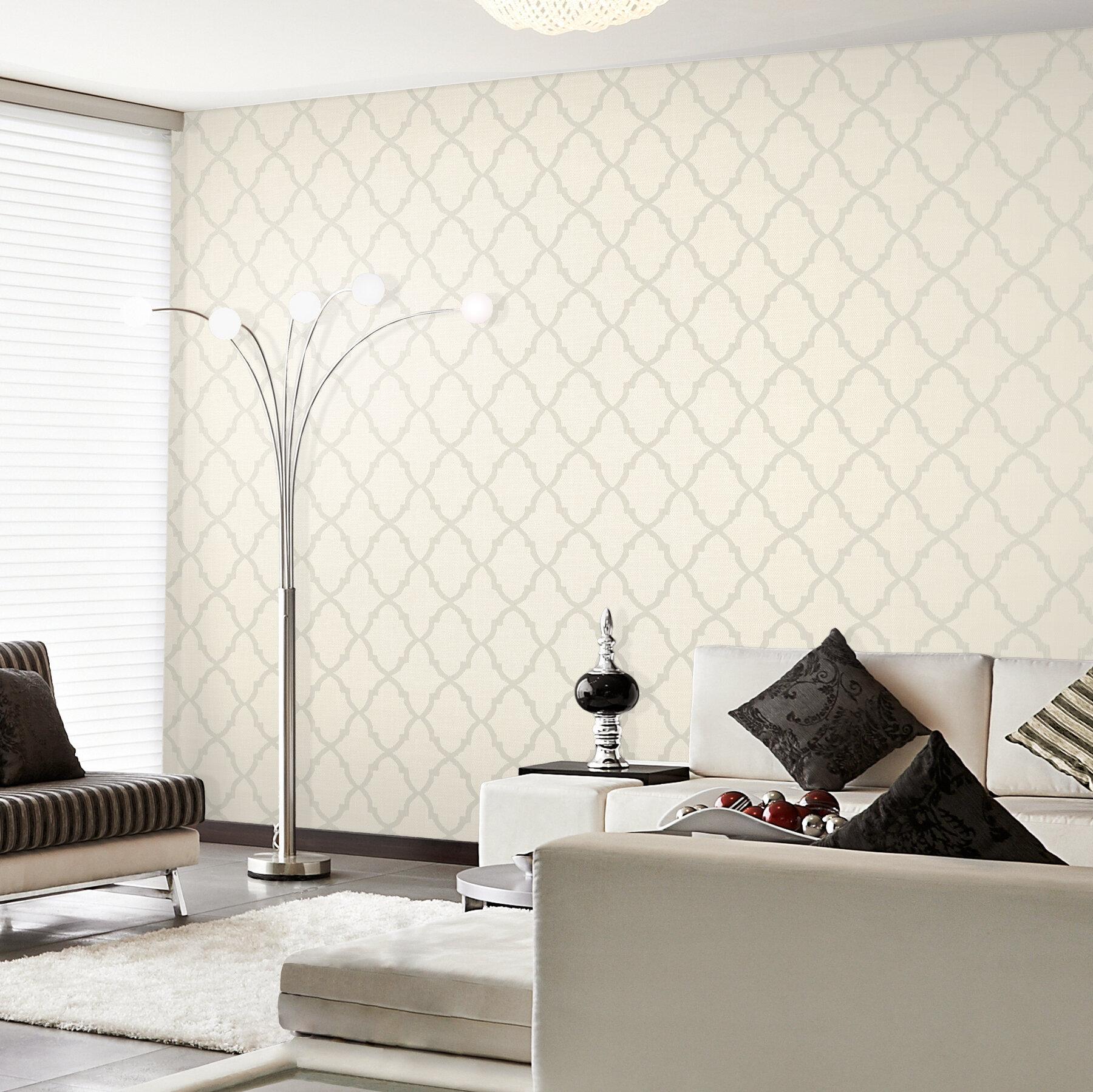 Prism oscar fretwork 33 39 x 20 5 trellis 3d embossed for 3d embossed wallpaper