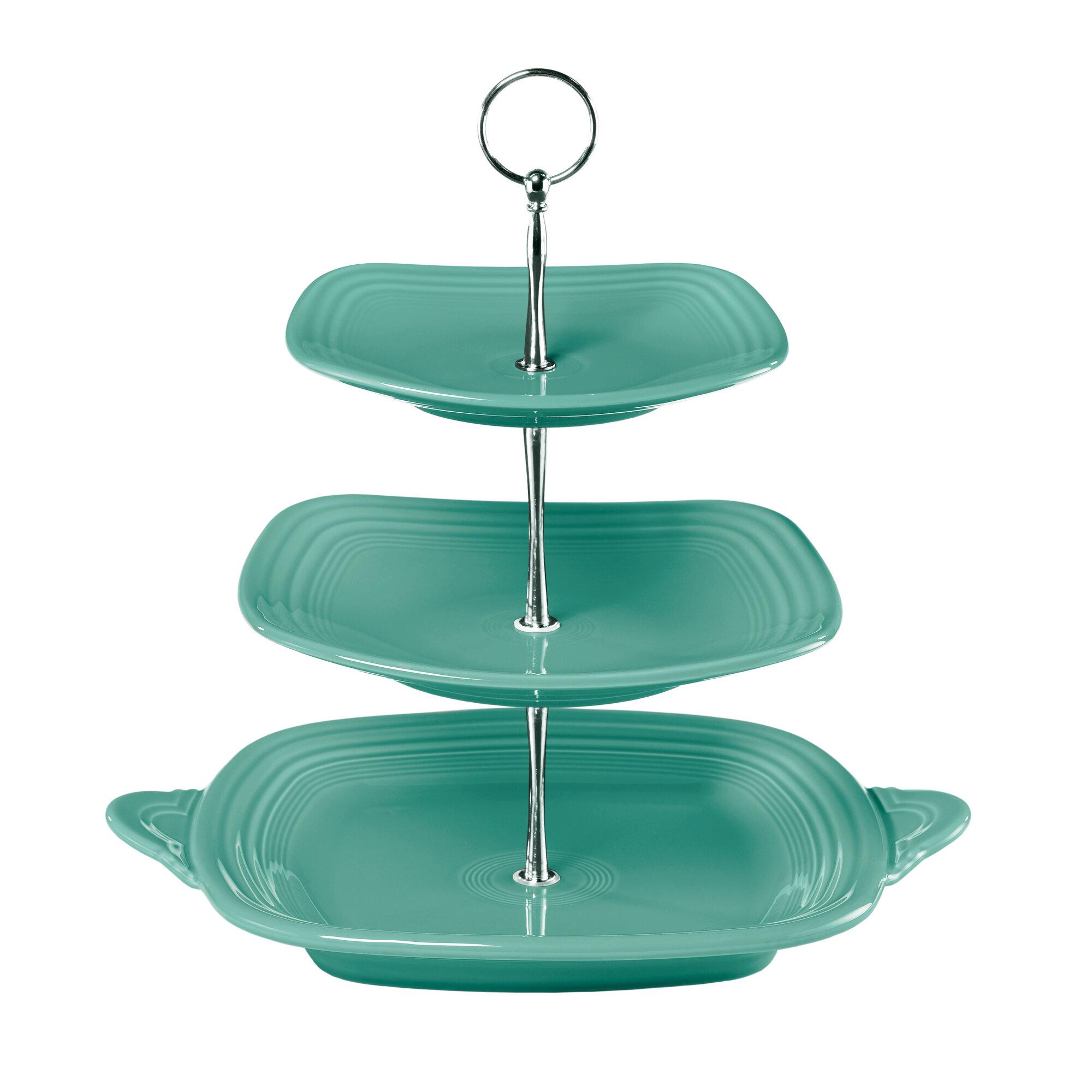 fiesta 3 tier serving stand ebay. Black Bedroom Furniture Sets. Home Design Ideas