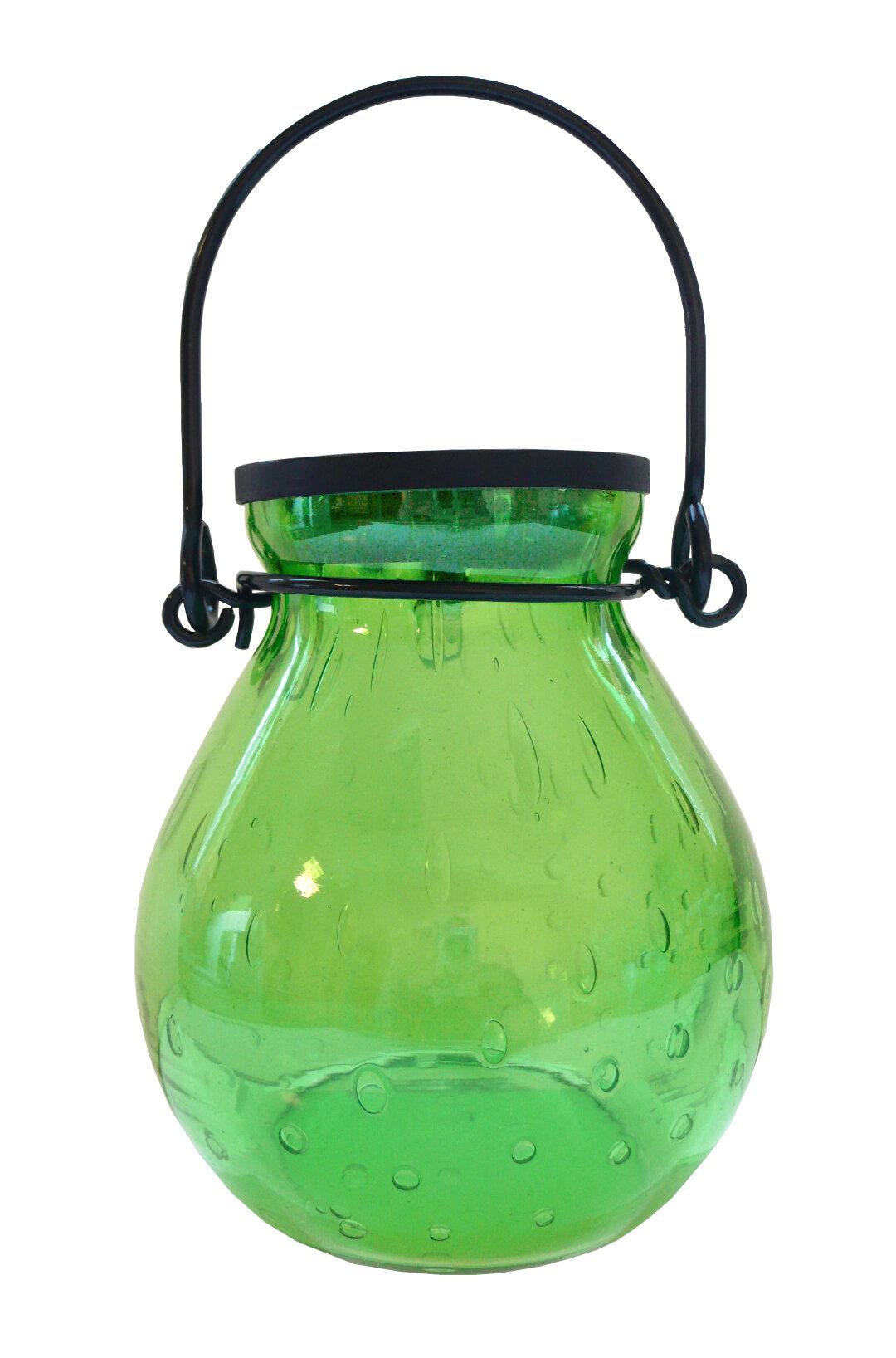Allsop Home And Garden Bubble Glass Solar Hanging Lantern