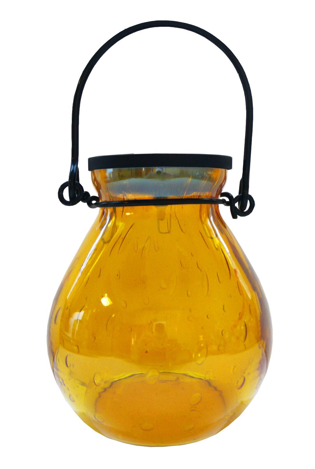 allsop home and garden bubble glass solar hanging lantern. Black Bedroom Furniture Sets. Home Design Ideas