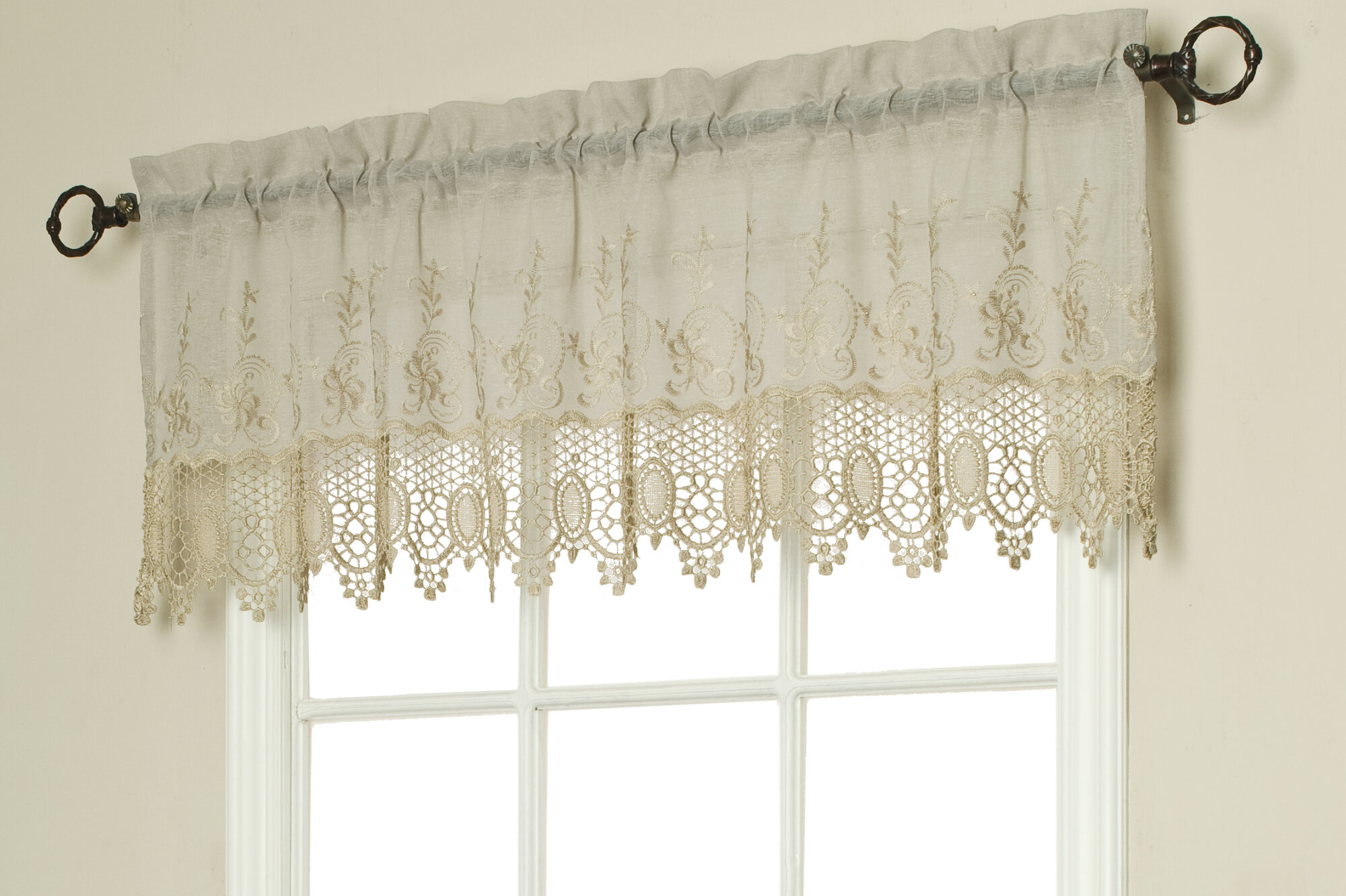 macrame window treatment commonwealth home fashions macram 233 55 quot curtain 9580