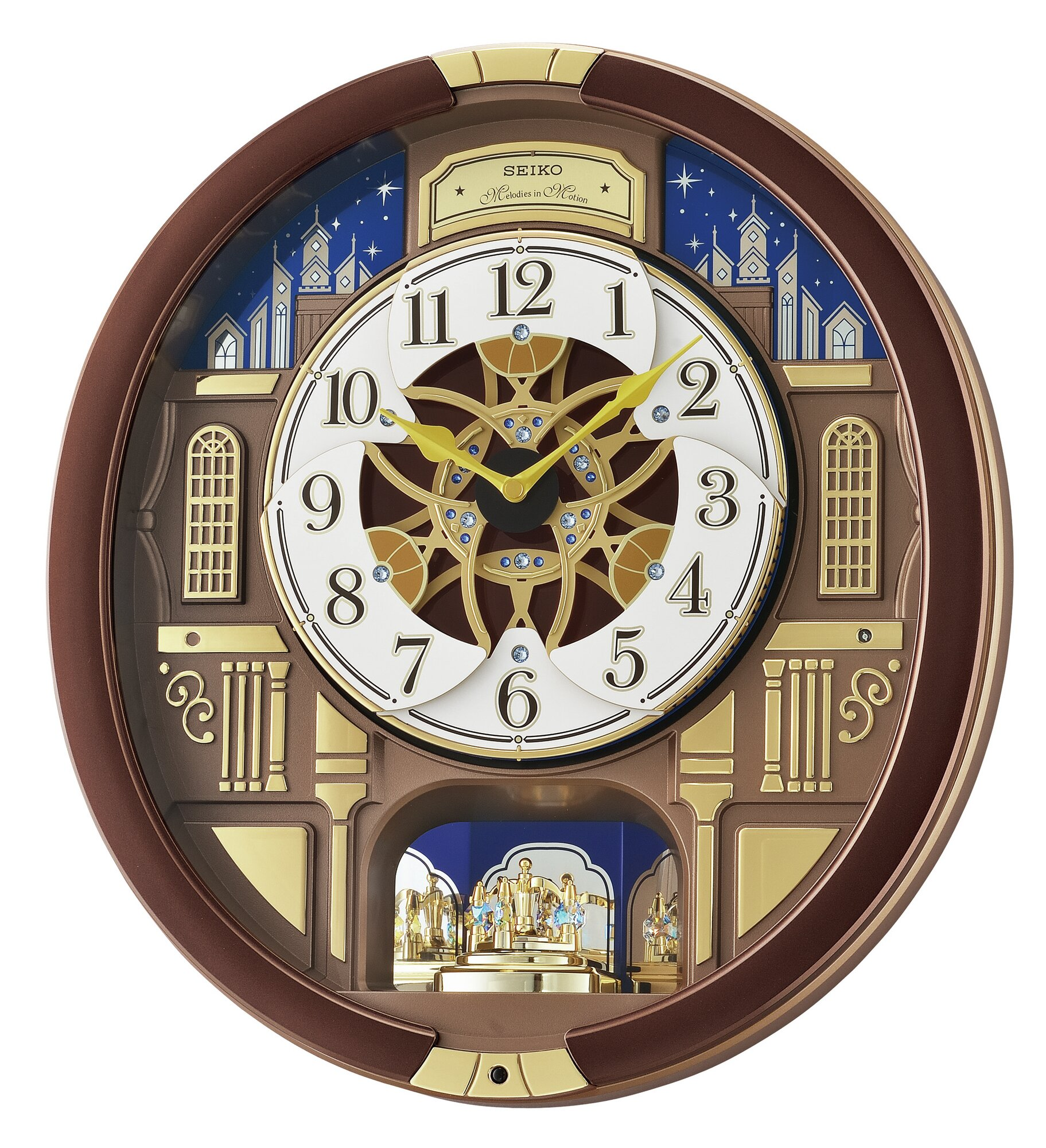 Seiko Melodies In Motion Garland Musical Wall Clock Ebay