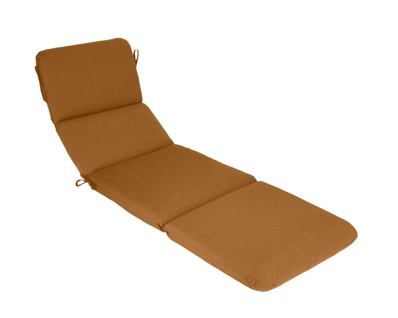Wildon home canvas outdoor sunbrella chaise lounge cushion for Chaise lounge cushion covers outdoor