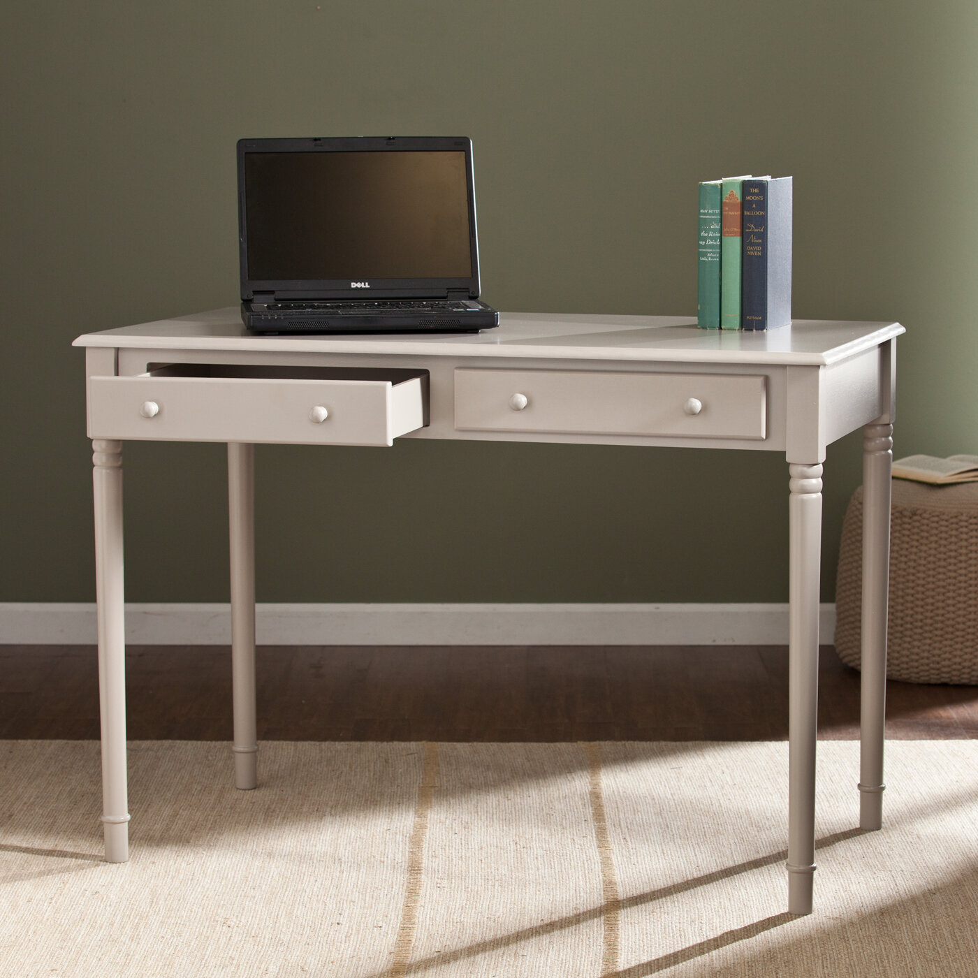Amazing photo of Wildon Home ® Pratt Writing Desk with 2 Drawers eBay with #7F674C color and 1400x1400 pixels