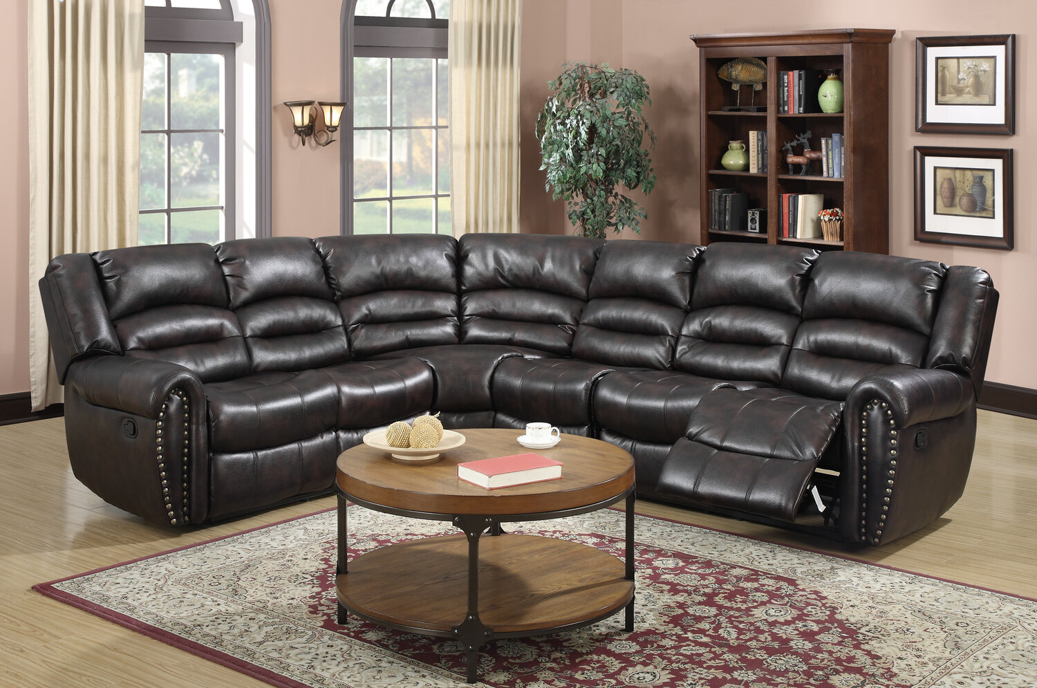 wildon home abbie sectional ebay. Black Bedroom Furniture Sets. Home Design Ideas