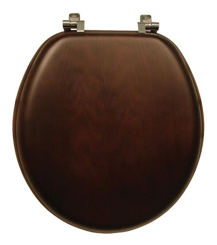 Bemis Natural Reflections Wood Round Toilet Seat EBay