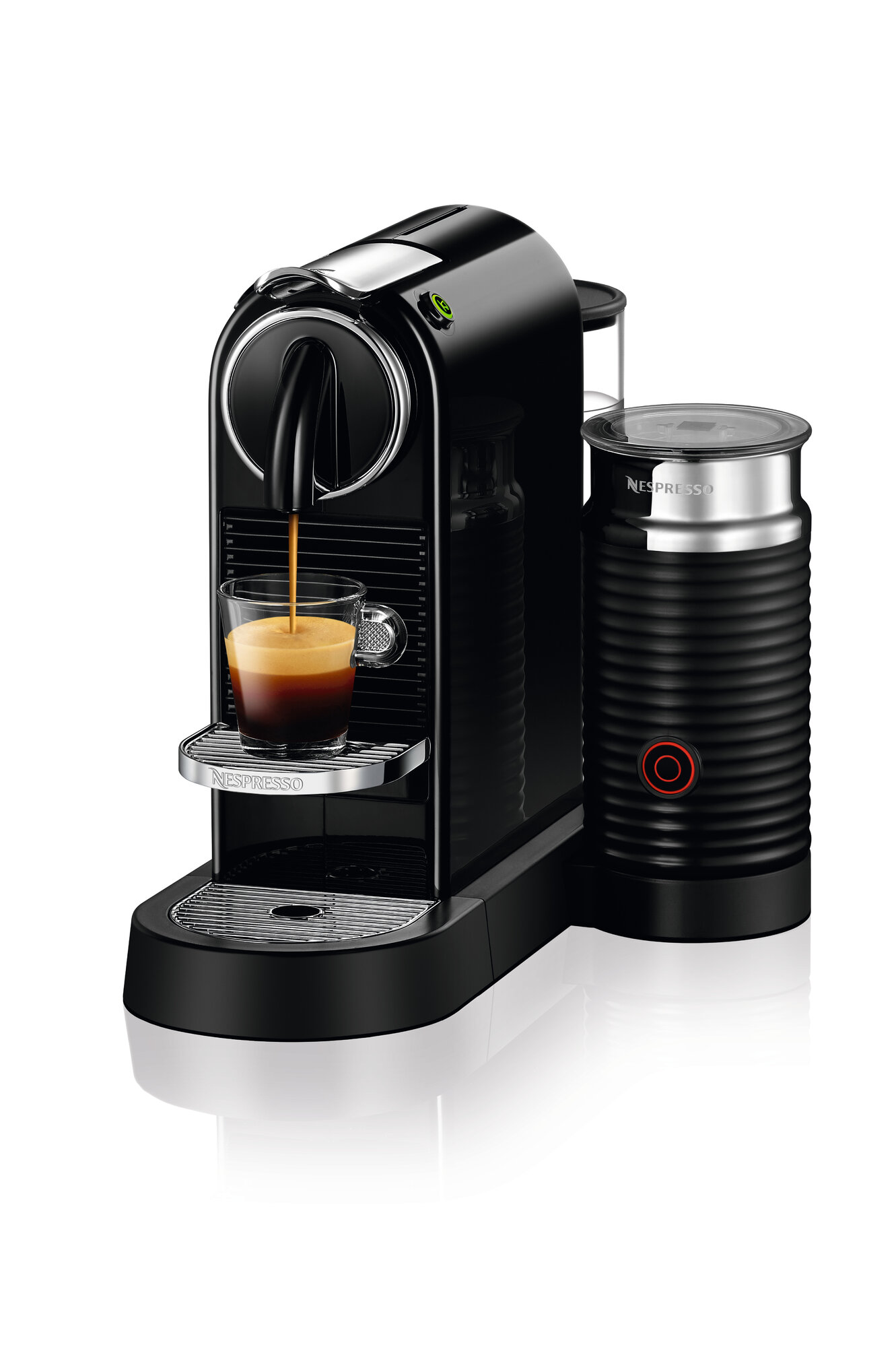 nespresso citiz espresso maker with milk frother ebay. Black Bedroom Furniture Sets. Home Design Ideas
