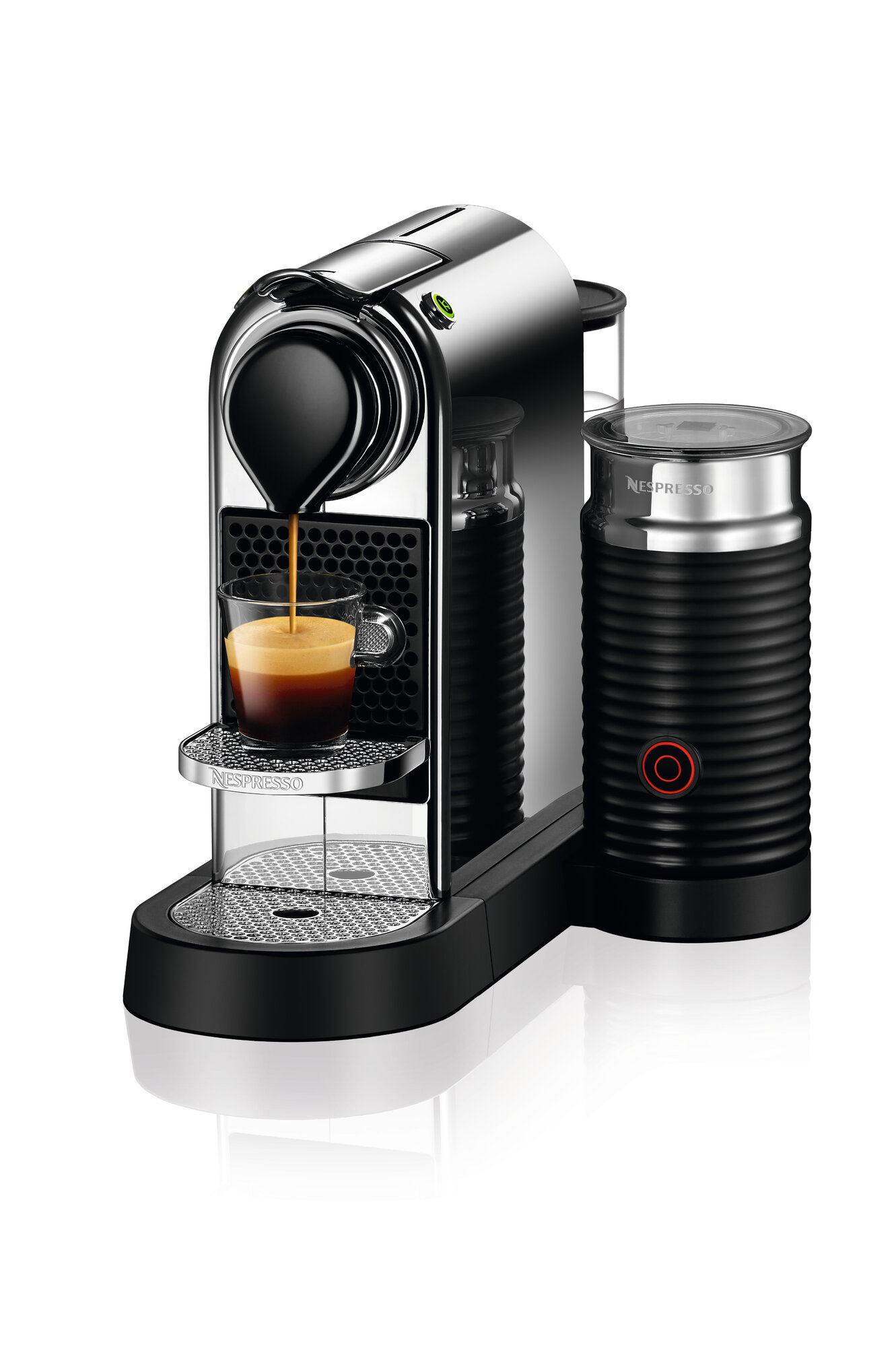 nespresso machine and milk frother