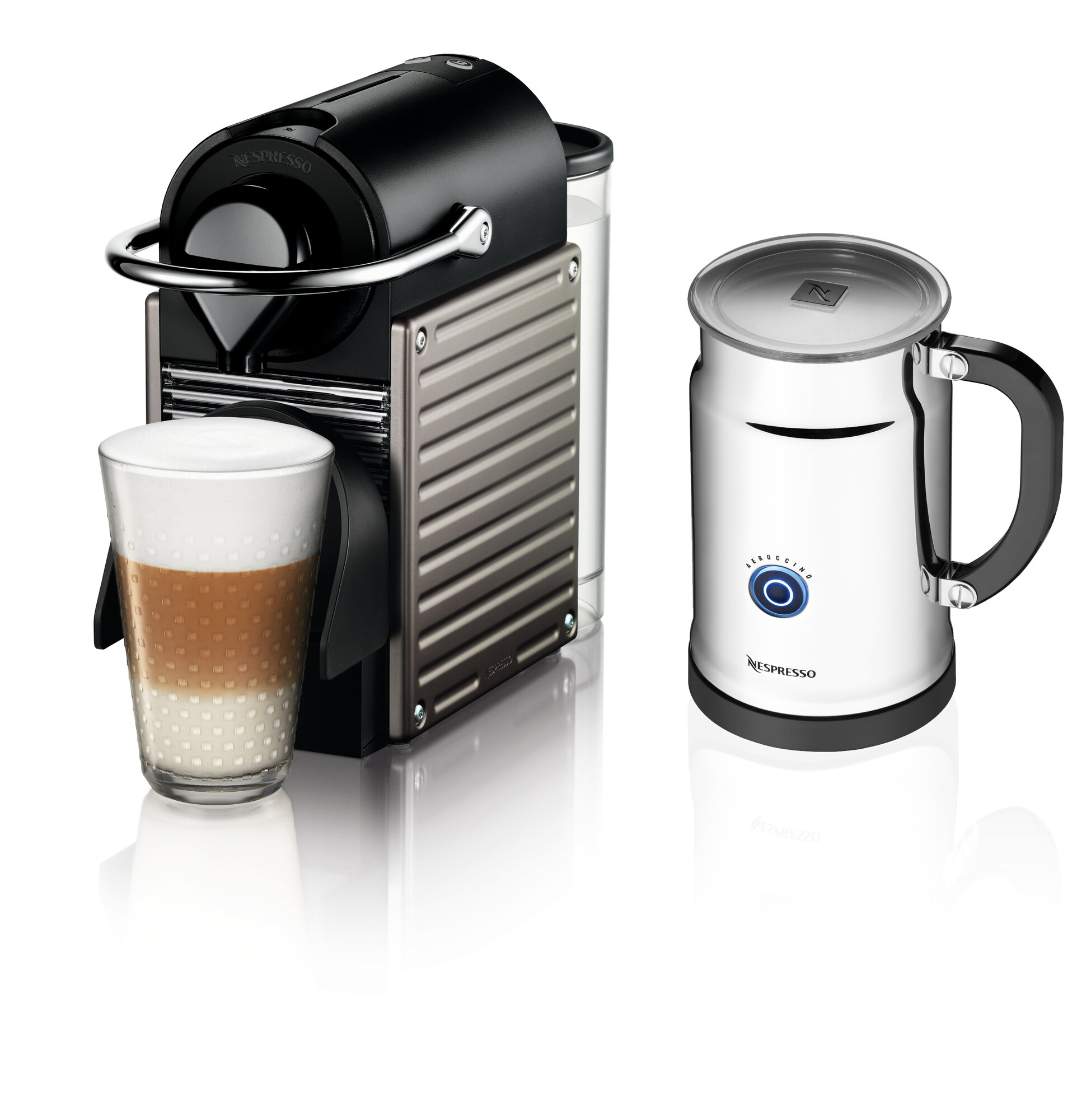 Nespresso OriginalLine Pixie Espresso Maker with Aeroccino Plus Milk Frother eBay