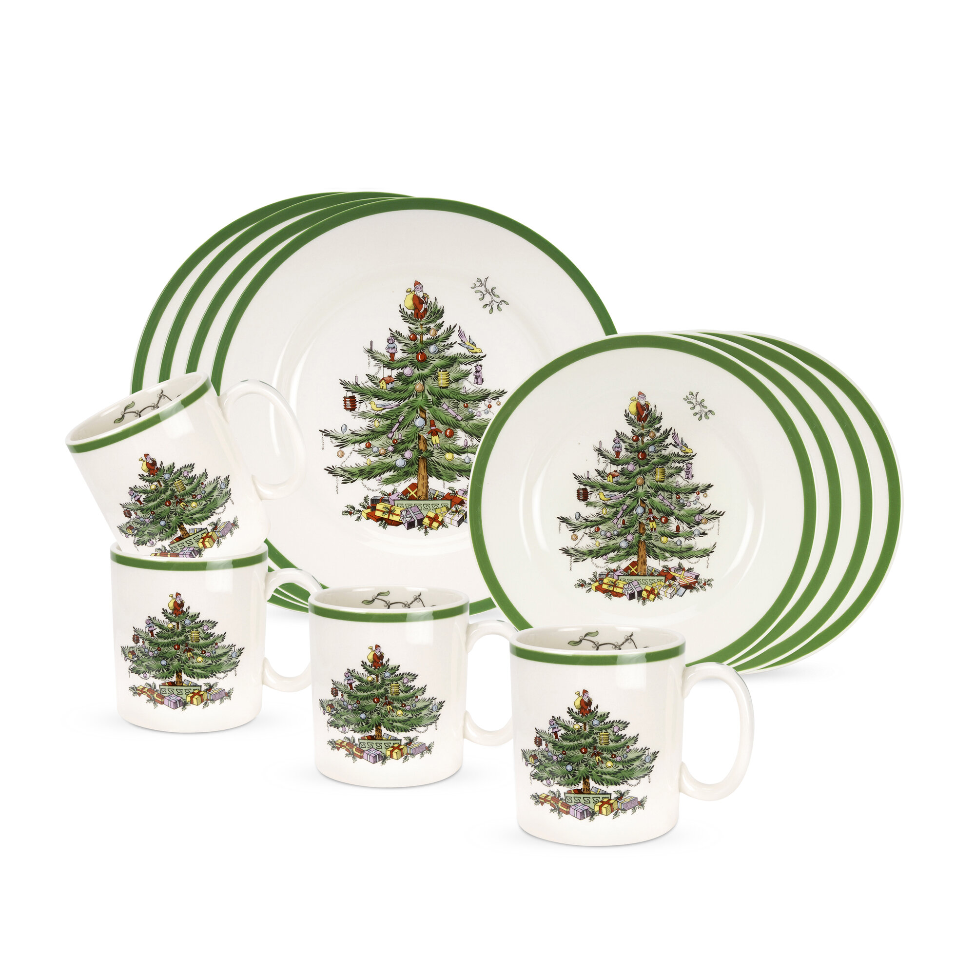 Christmas Dinnerware Service For 12