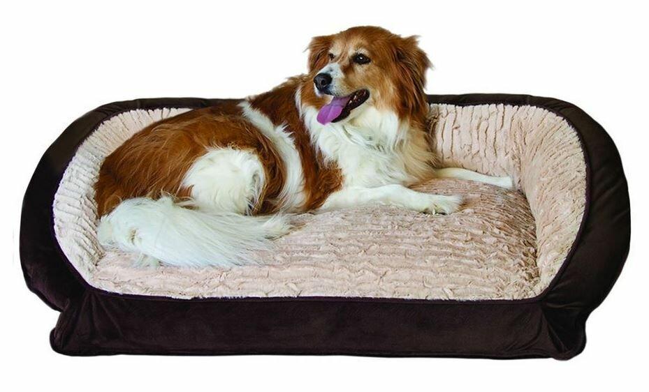 serta pet beds bolster memory foam pet bed ebay. Black Bedroom Furniture Sets. Home Design Ideas