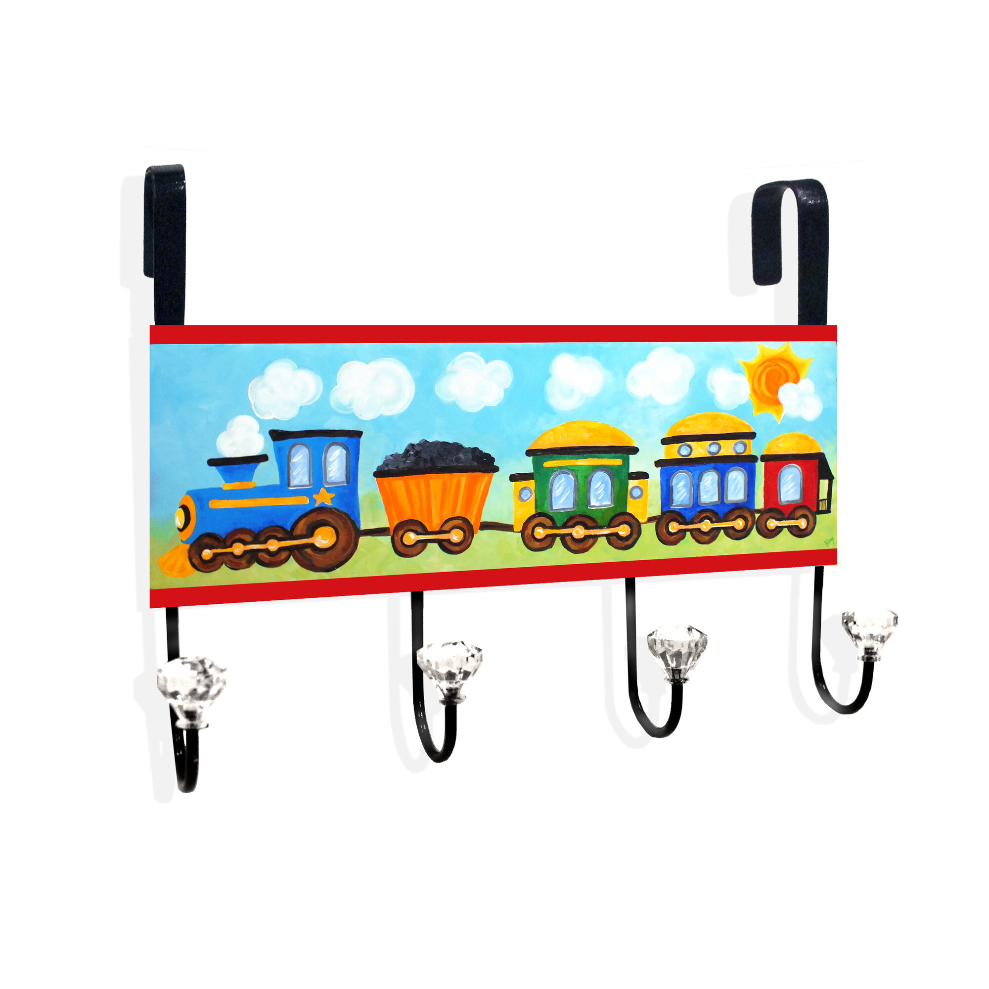 Stupell industries choo choo train in the sun over the for Abanos furniture industries decoration llc