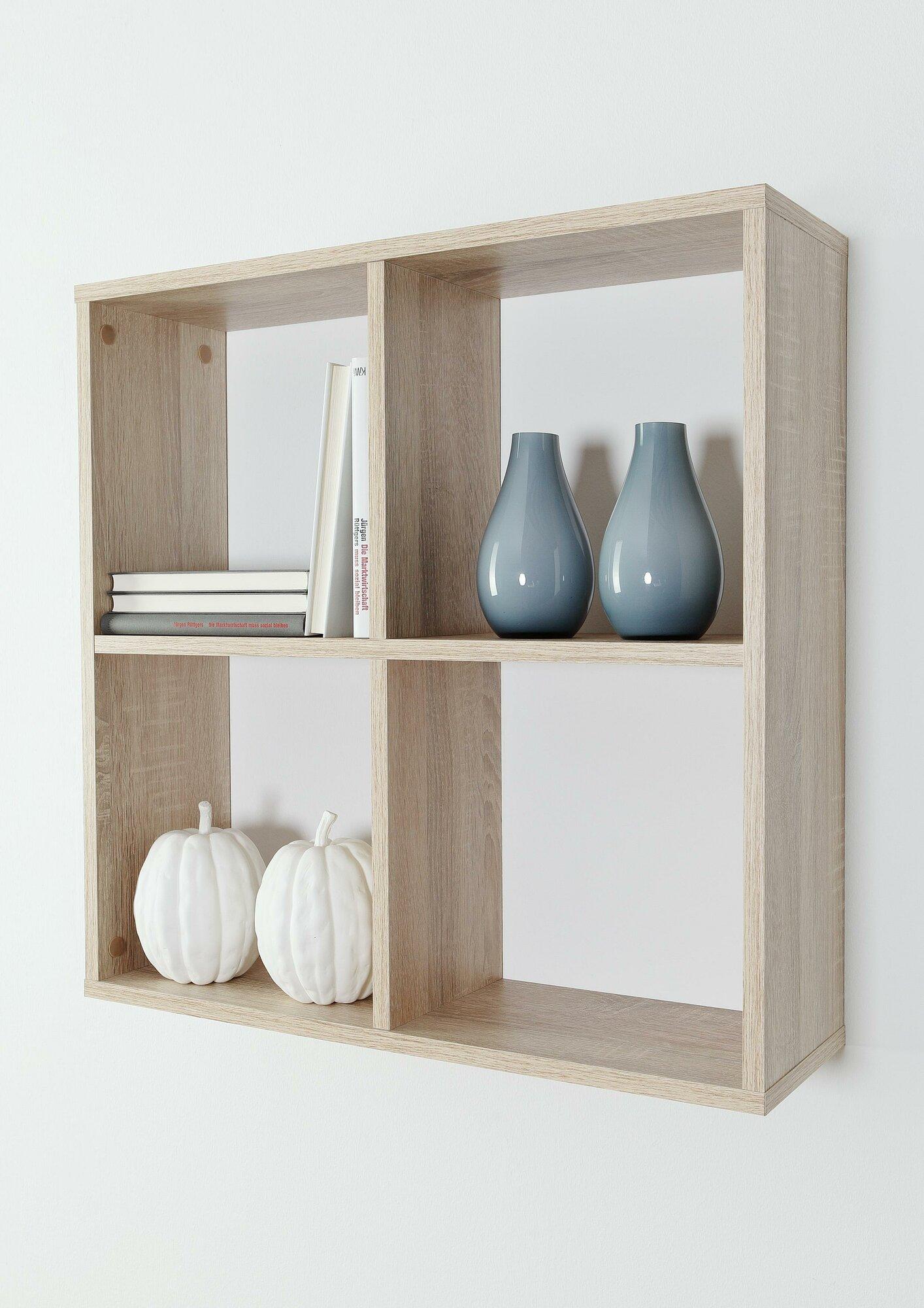 hela tische wandregal ken mit 4 f chern ebay. Black Bedroom Furniture Sets. Home Design Ideas
