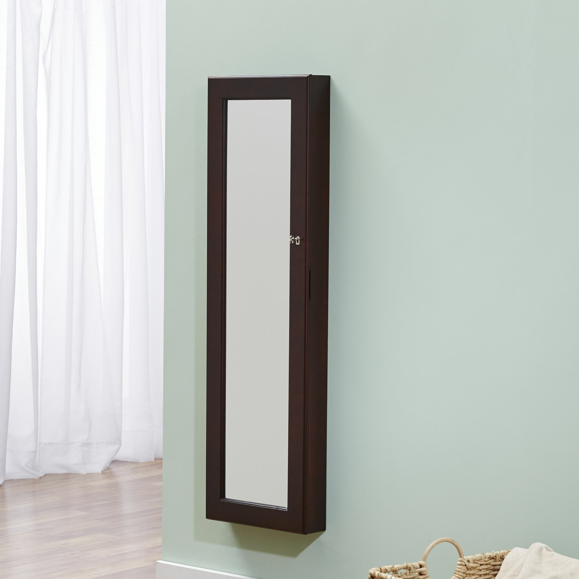 innerspace luxury products over the door jewelry armoire with mirror ebay. Black Bedroom Furniture Sets. Home Design Ideas