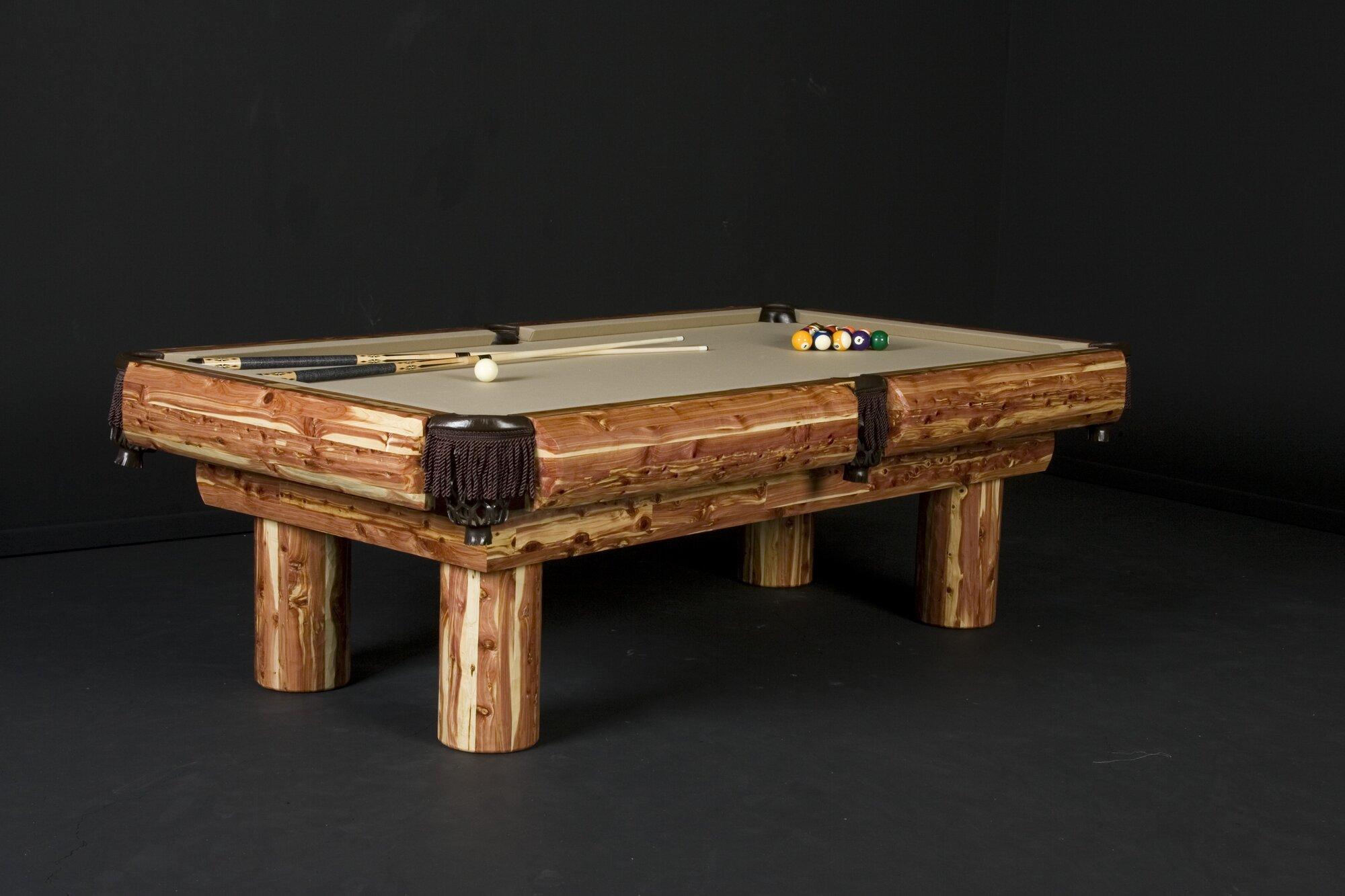 Northwoods Billiards 8 39 Red Cedar Pool Table Brick Clear