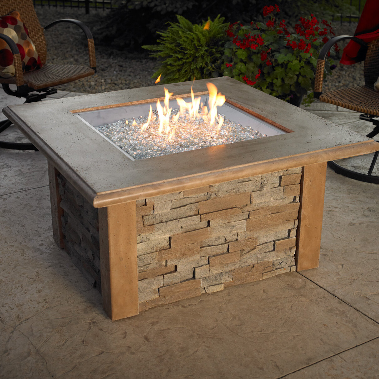 The Outdoor Greatroom Company Sierra Gas Firepit Table Ebay