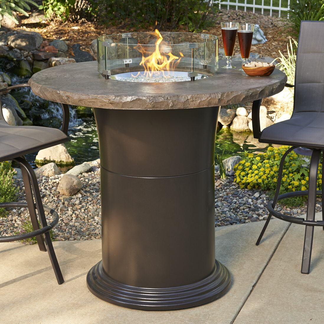 The outdoor greatroom company fire pit guard ebay for Great outdoor room company