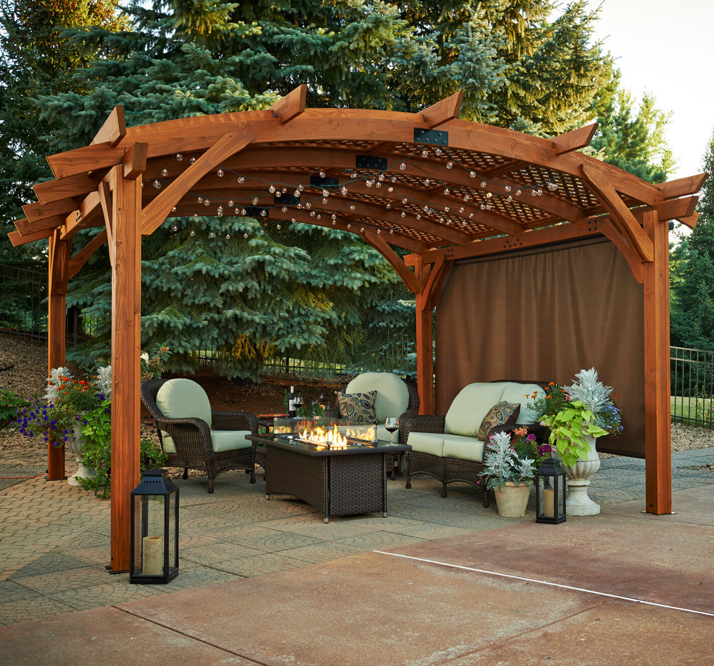 the outdoor greatroom company sonoma 16 39 w x 16 39 d pergola