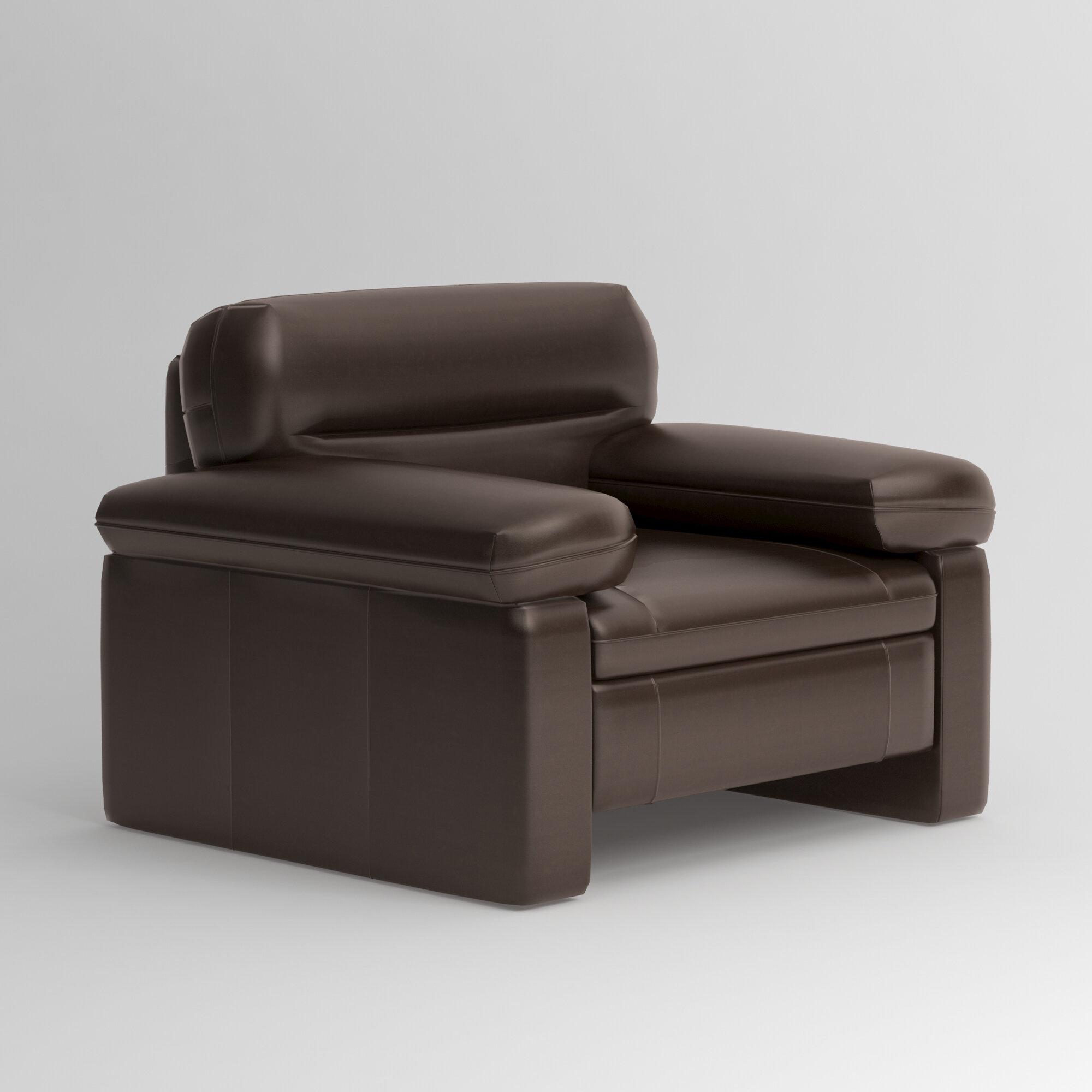 Dwell Studio Silverado Lounge Chair Leather: Pony Chocolate